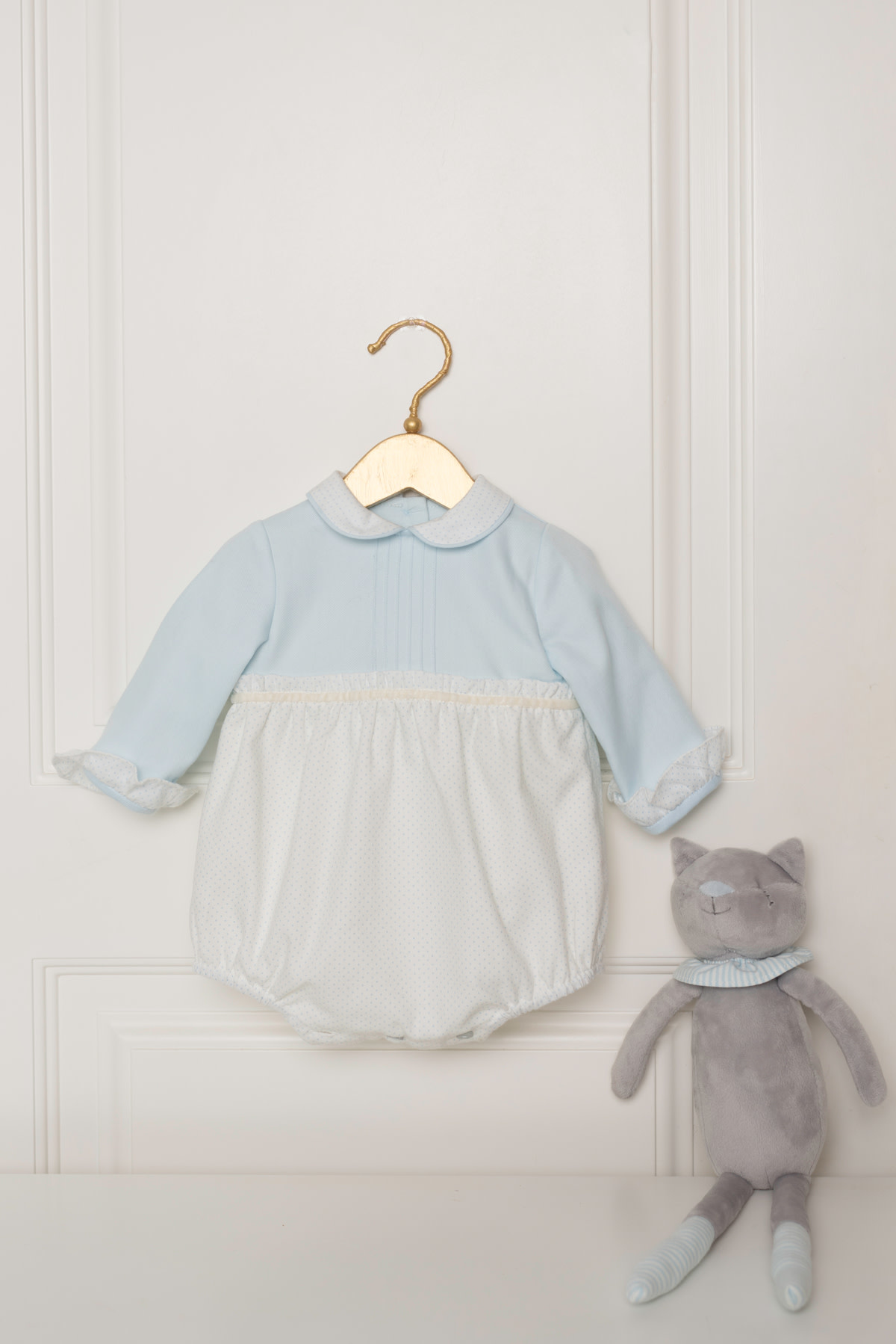 Dolce Petit Dolce Petit AW19 Baby Boys Blue All In One Romper 2004/P