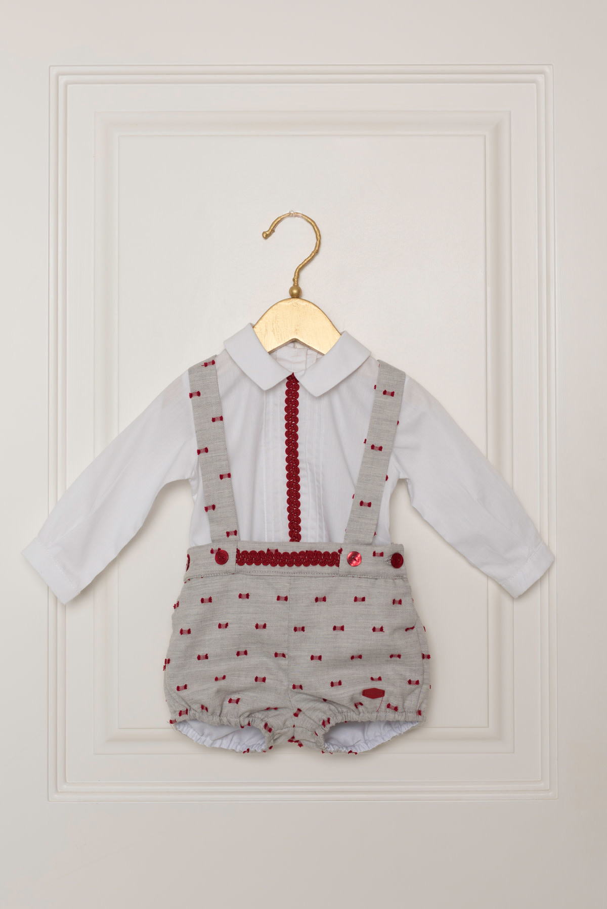 Dolce Petit Dolce Petit Baby Boys Short and Shirt Set Red and Grey 2009/23