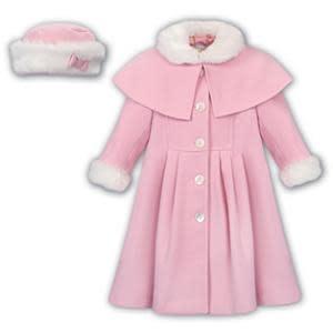 Sarah Louise Sarah Louise AW19 Girls Pink Coat and Hat 011782