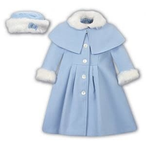 Sarah Louise Sarah Louise AW19 Girls Blue Coat and Hat 011782