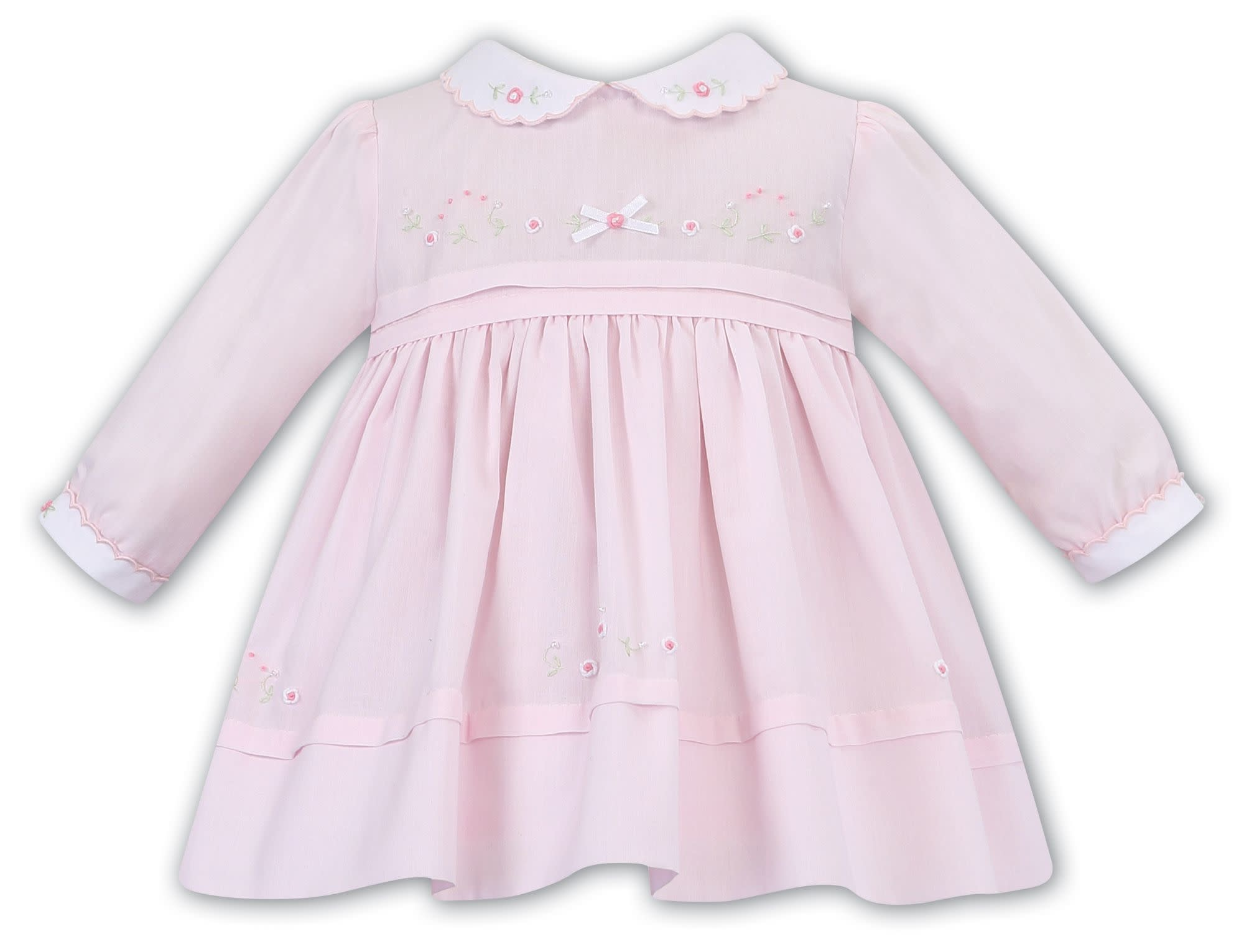 Sarah Louise Sarah Louise AW19 Girls Dress Pink and White 011620