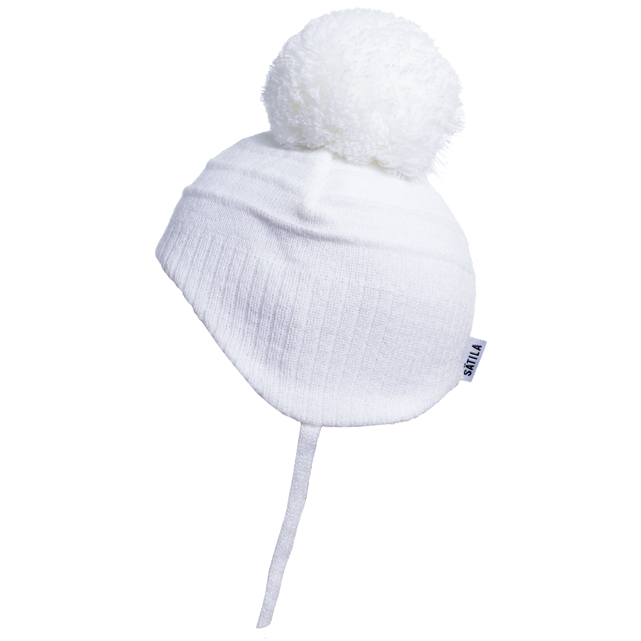 Satila Satila White Baby Hat with pom pom Tiny C72914