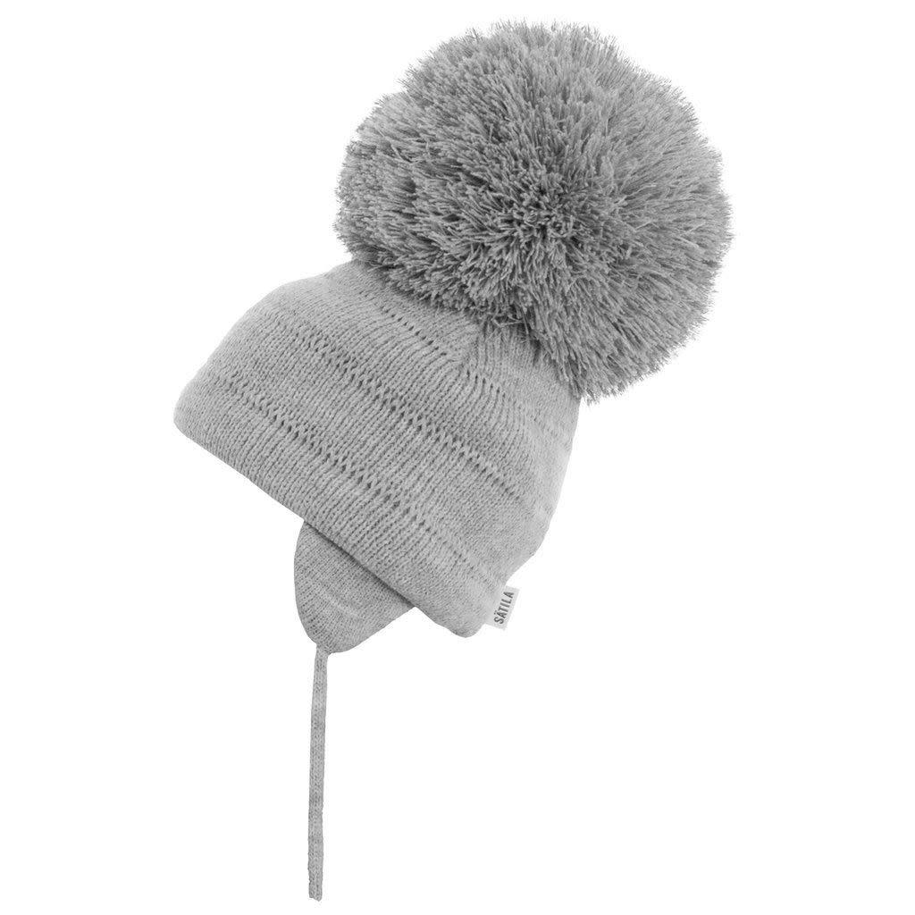 Satila Satila Grey Large Pom Pom hat TUVA C81508