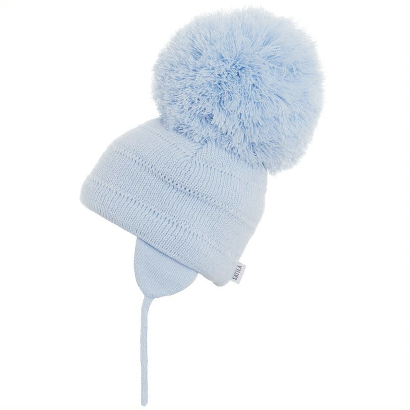 Satila Satila Blue Large Pom Pom hat TUVA C81508