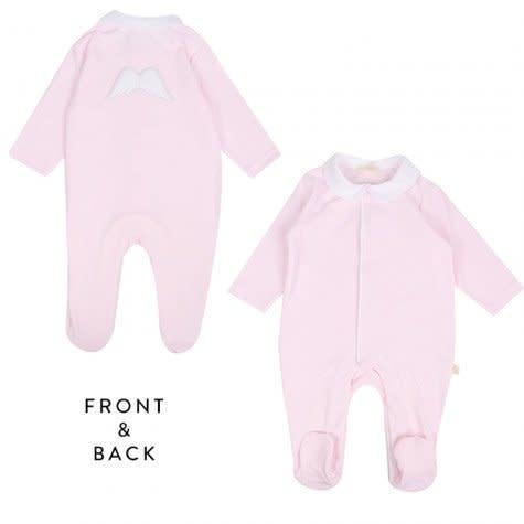 Baby Gi Baby Gi Pink Angel Wings Baby Grow
