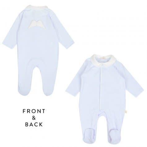 Baby Gi Baby Gi blue angel wings baby grow