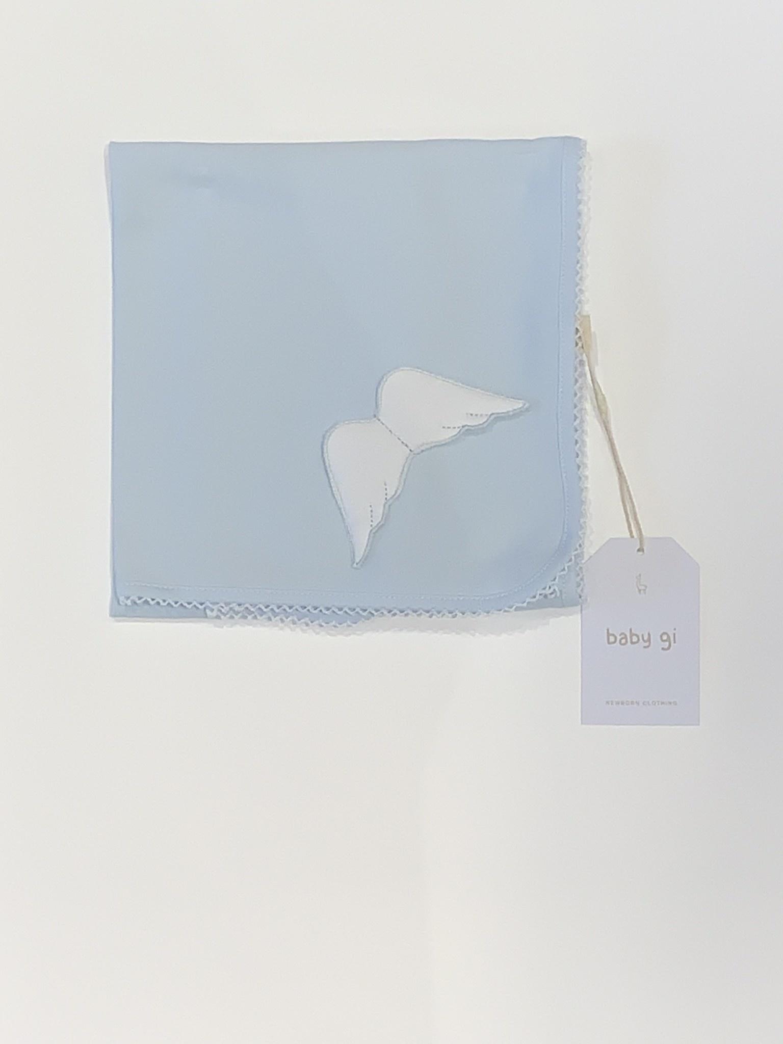 Baby Gi Baby Gi blue angel wings muslin One Size