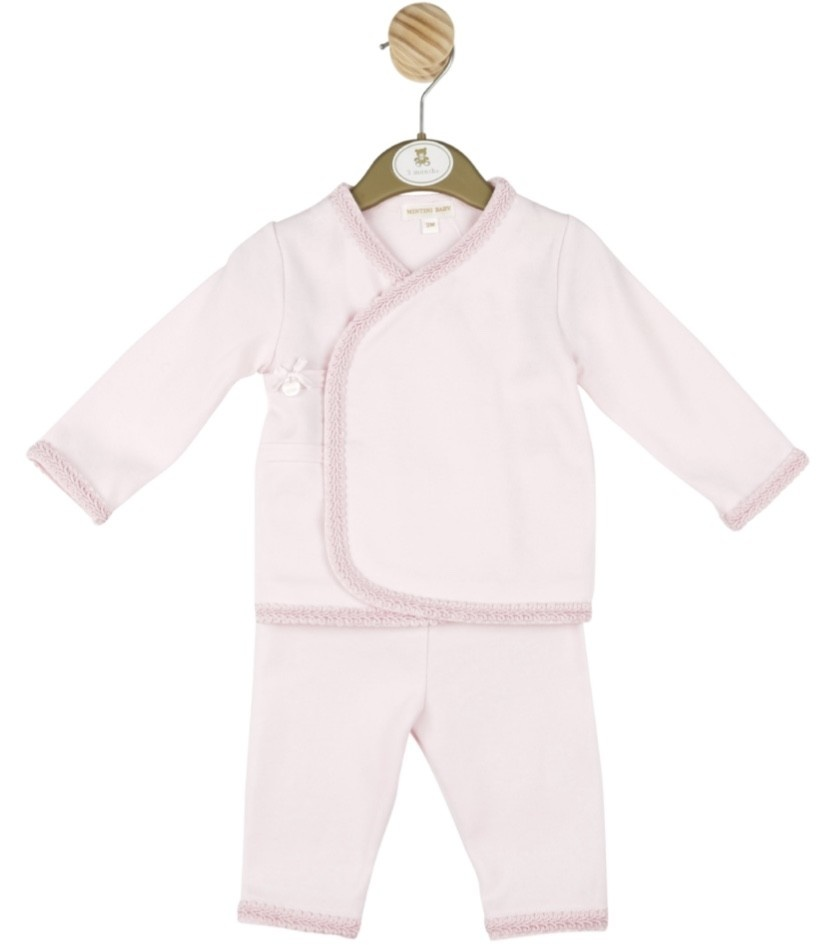 Mintini Baby Mintini Baby Girl Top and trouser set Pink MB2864A