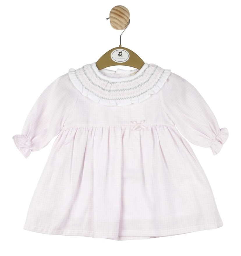 Mintini Baby Mintini Girls Pink Dress MB2972A Age 18 Months