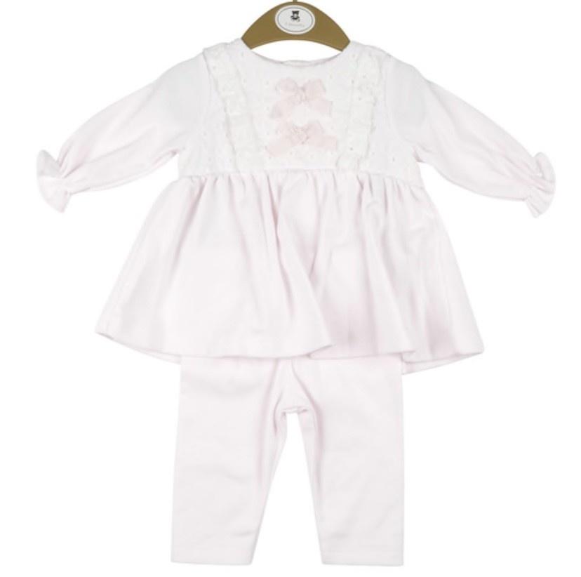 Mintini Baby Mintini Girls Pink Top and Leggings Set MB2963