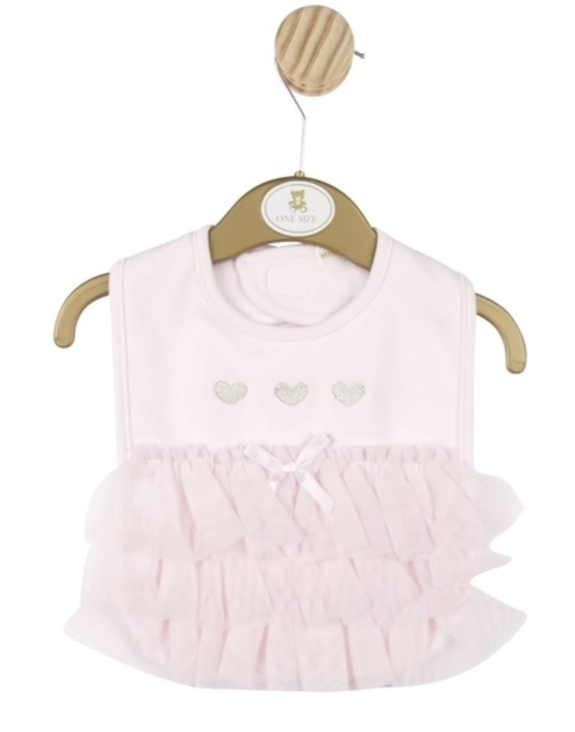 Mintini Baby Mintini Baby Girl Pink Bib One Size