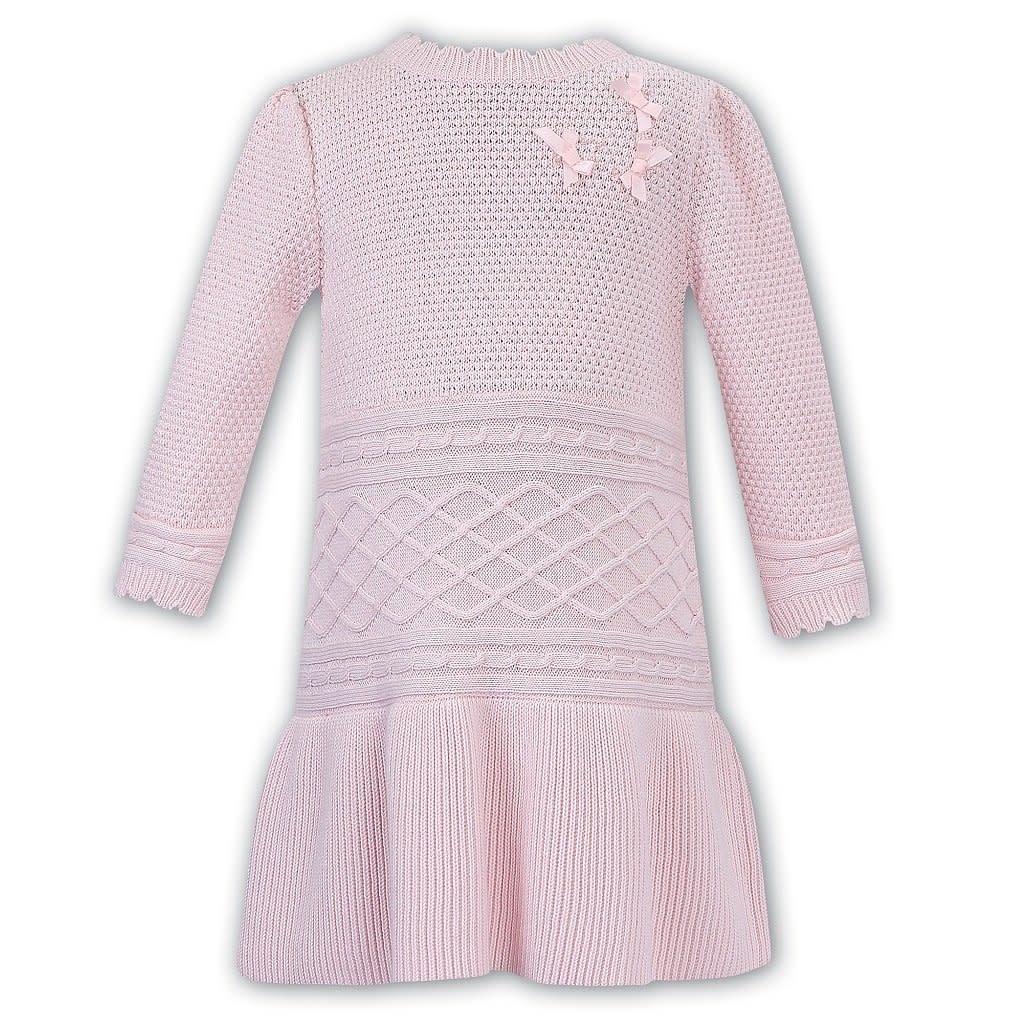 Sarah Louise Dani Girls Pink Knitwear Dress 4 Years D09358