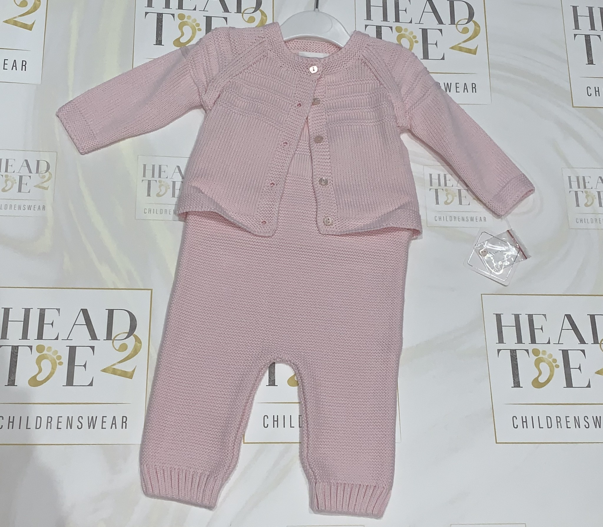 Sarah Louise Dani Pink Knitted All in One with Cardigan Set Age 6 Months D09250