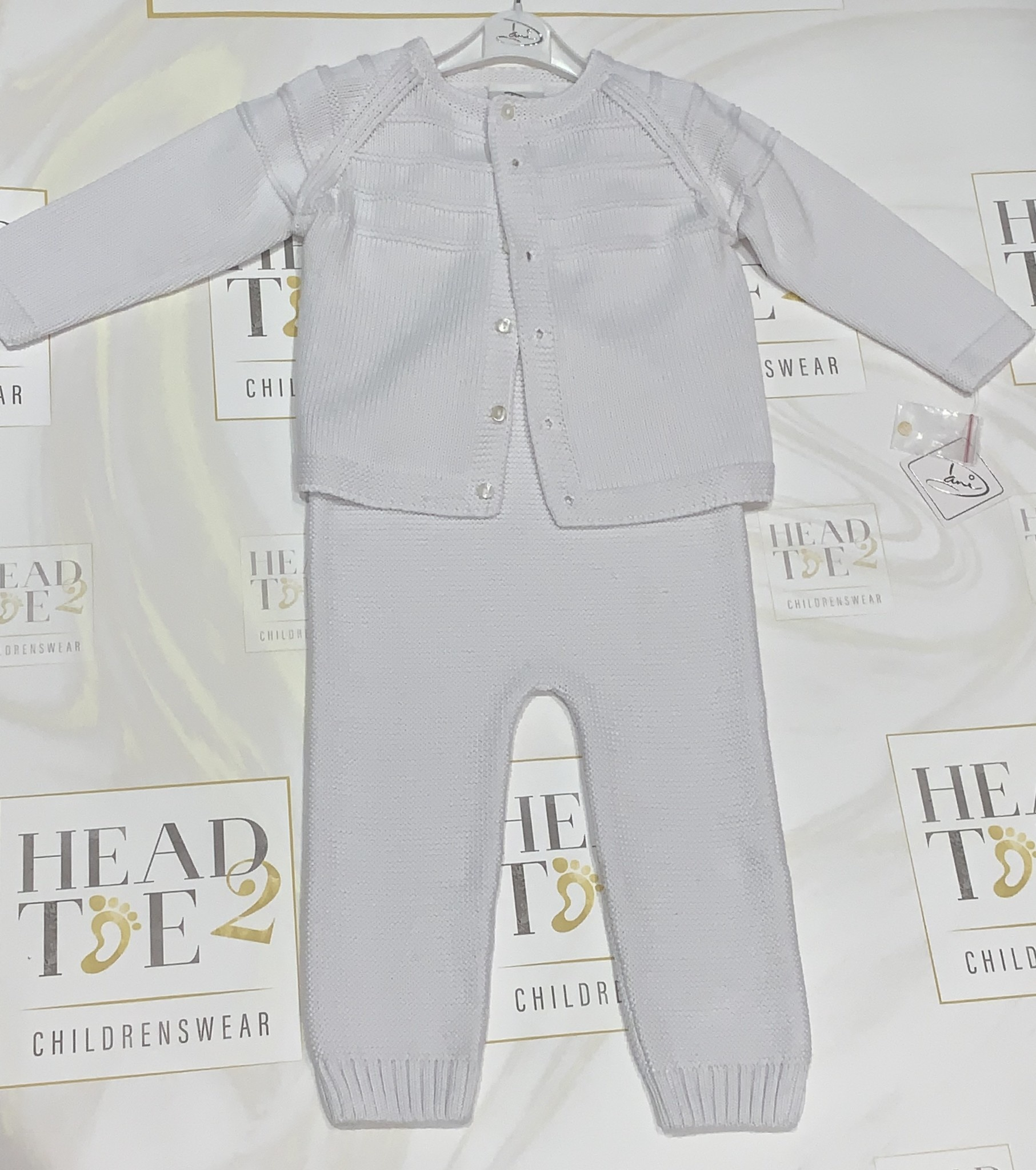 Sarah Louise Dani Boys White Knitted All in One with Cardigan Set Age 2 Years D09250NF