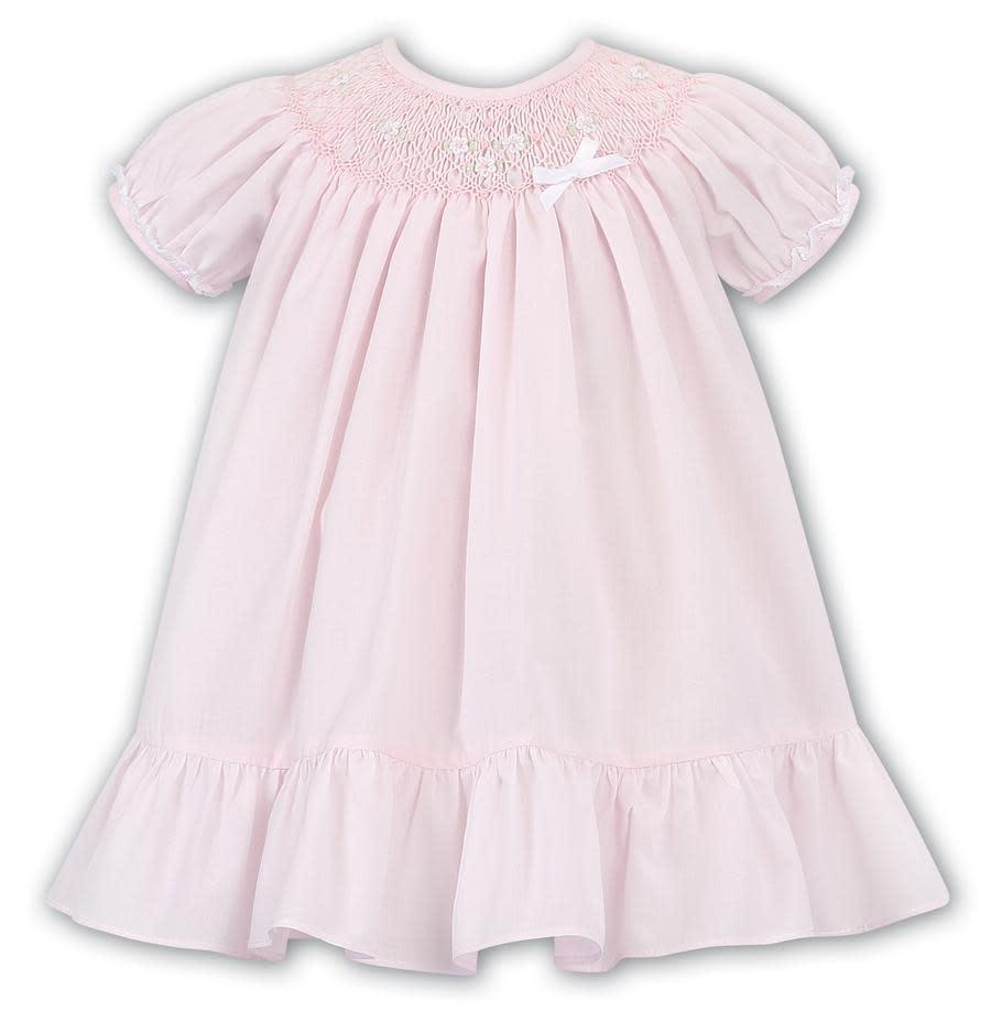Sarah Louise Sarah Louise AW19 Girls Smock Dress Pink 011633 Age 18 Months