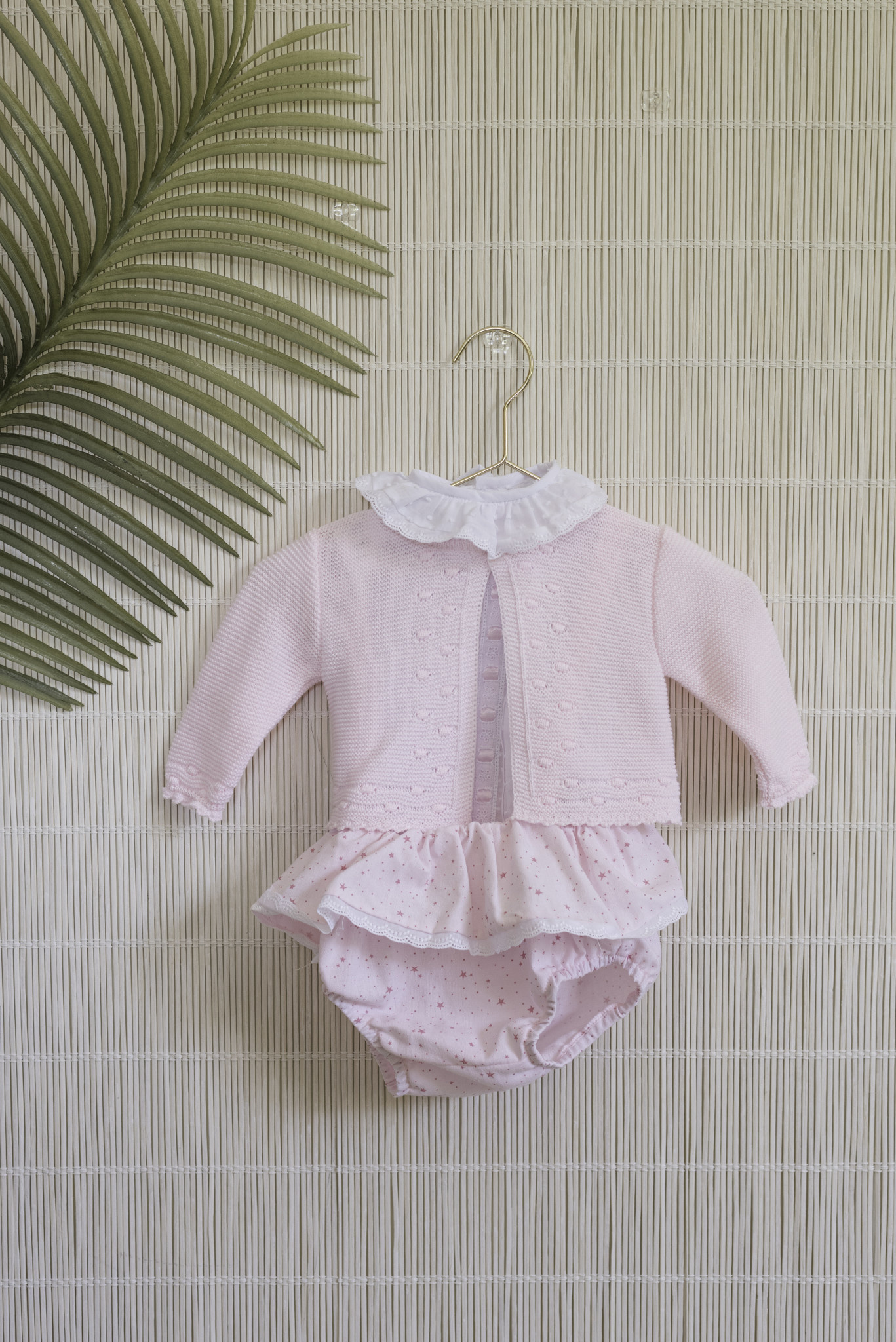 Dolce Petit Dolce Petit SS20 Girls Pink Frill Outfit Set 2050-23