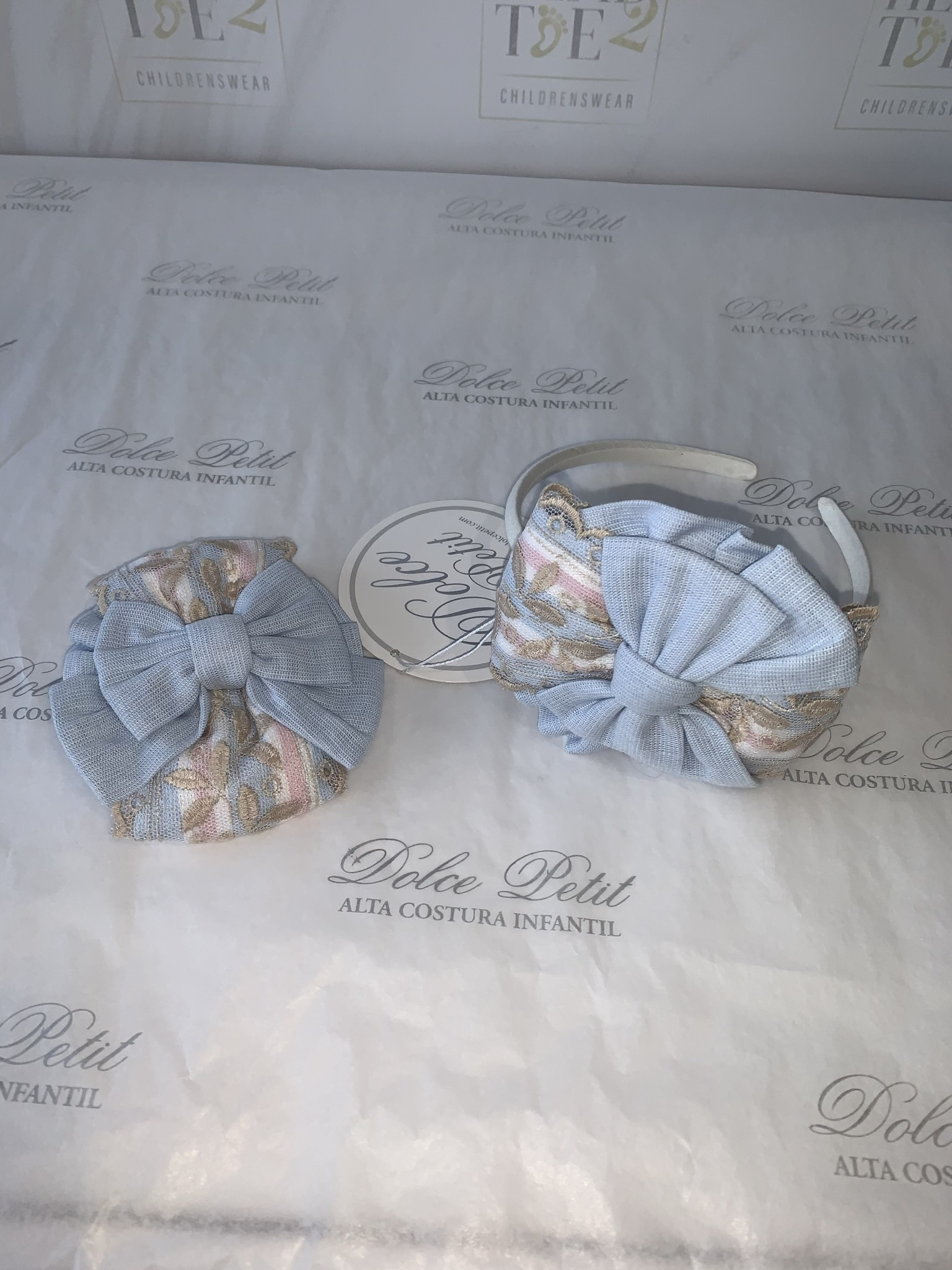 Dolce Petit Dolce Petit SS20 Hairband/Clasp 2 in 1  2249-DP