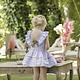 Dolce Petit Dolce Petit SS20 Older Girl Candy Stripped Dress With Bow Deatil 2250-V