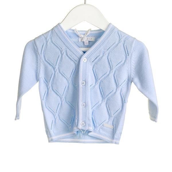 Blues Baby Bluesbaby Zip Zap SS20 Boys Blue Cardigan with white trim NN0211