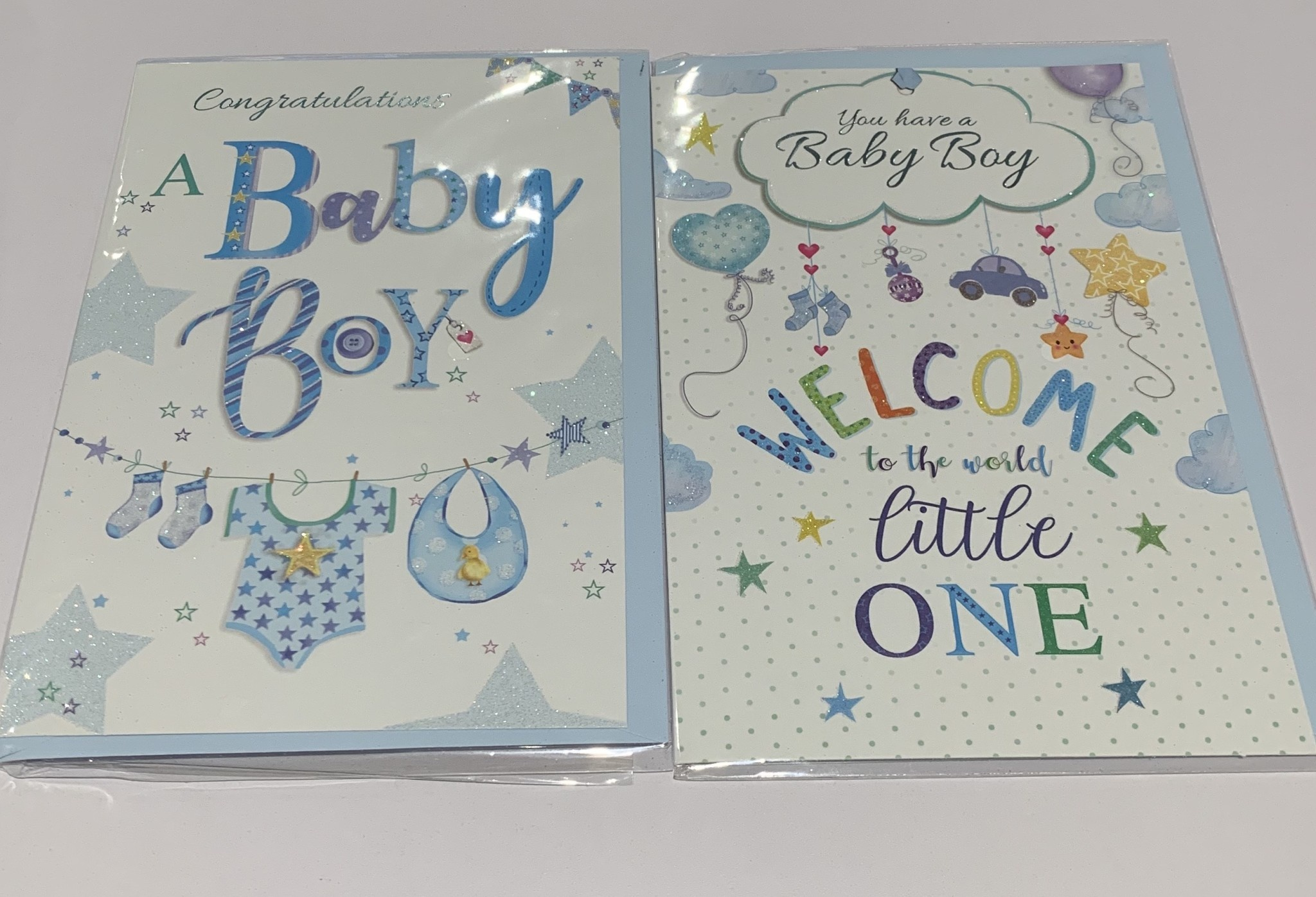 Baby Girl And Boy Card