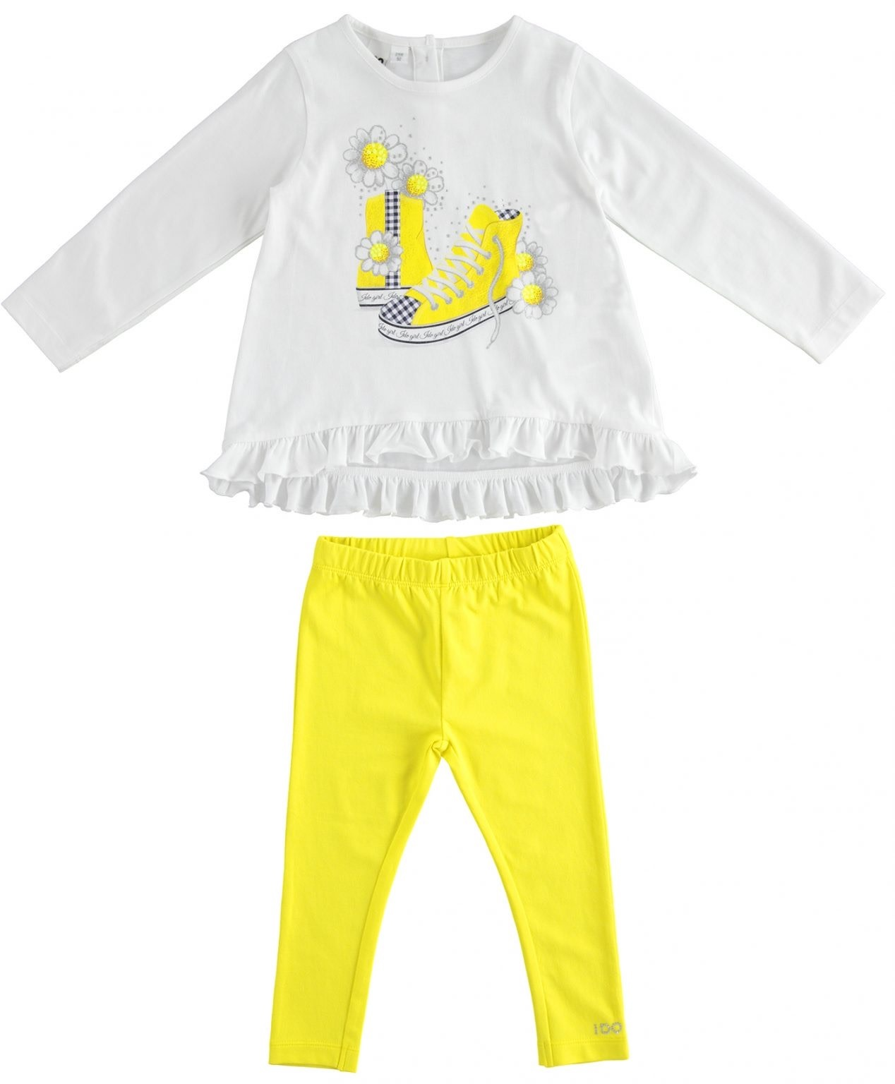 iDo iDo SS20 Girls Yellow and White Leggings Set J272