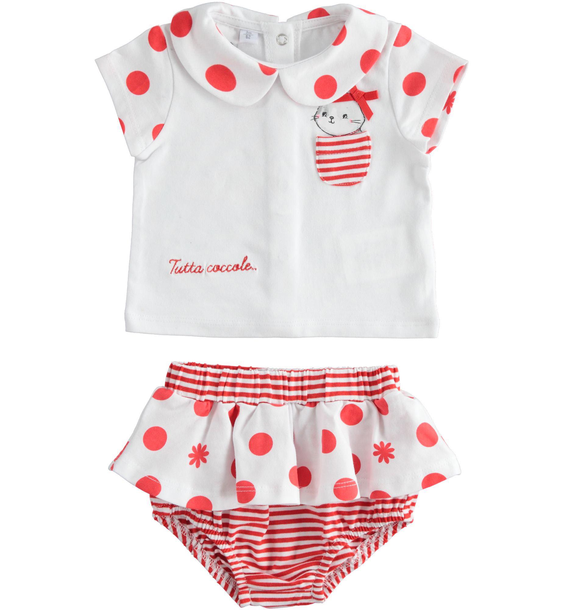 iDo iDO SS20 Girls Red & White 2 Piece Set J144