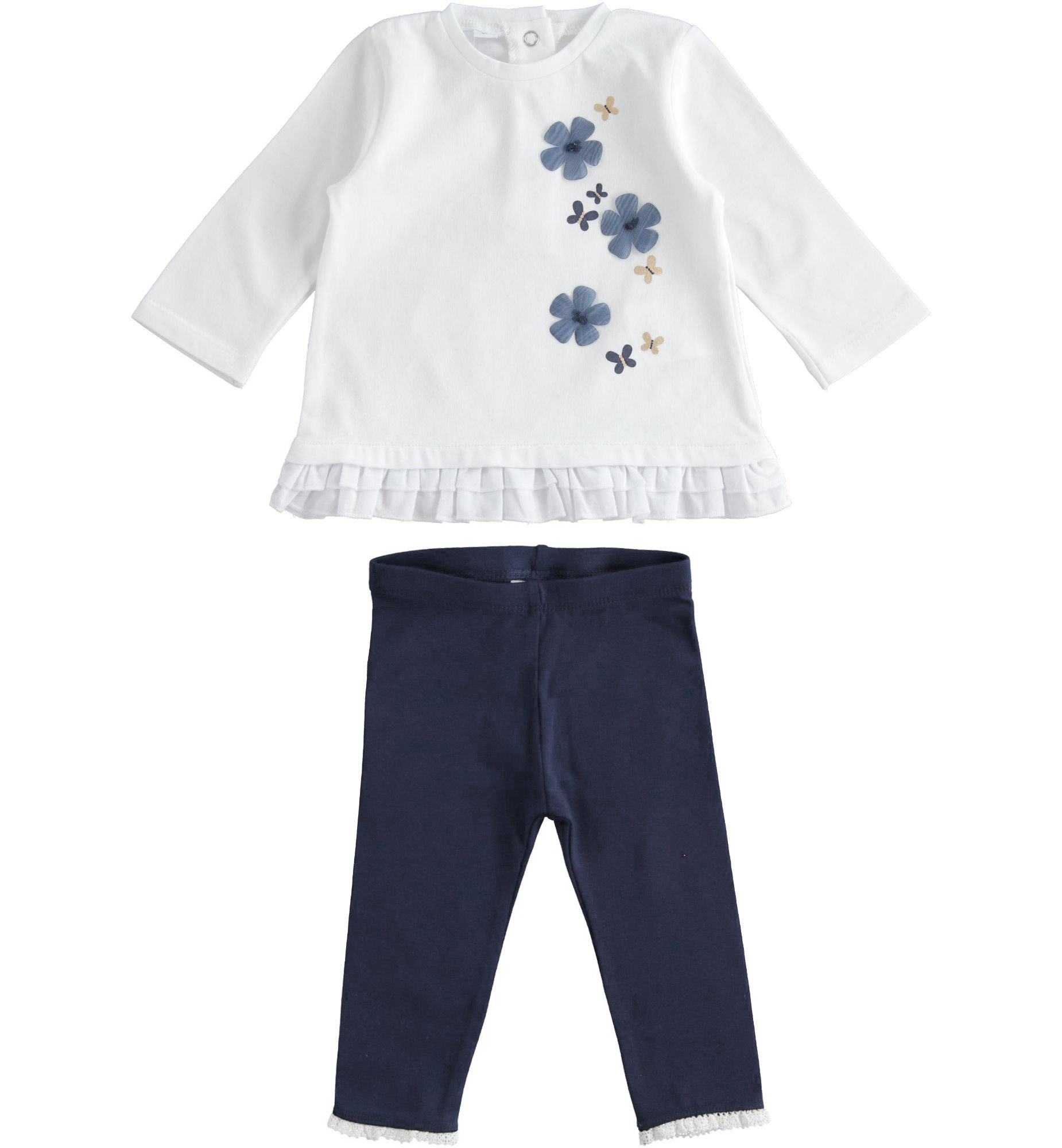 iDo iDo SS20 girls navy flower leggings set J145