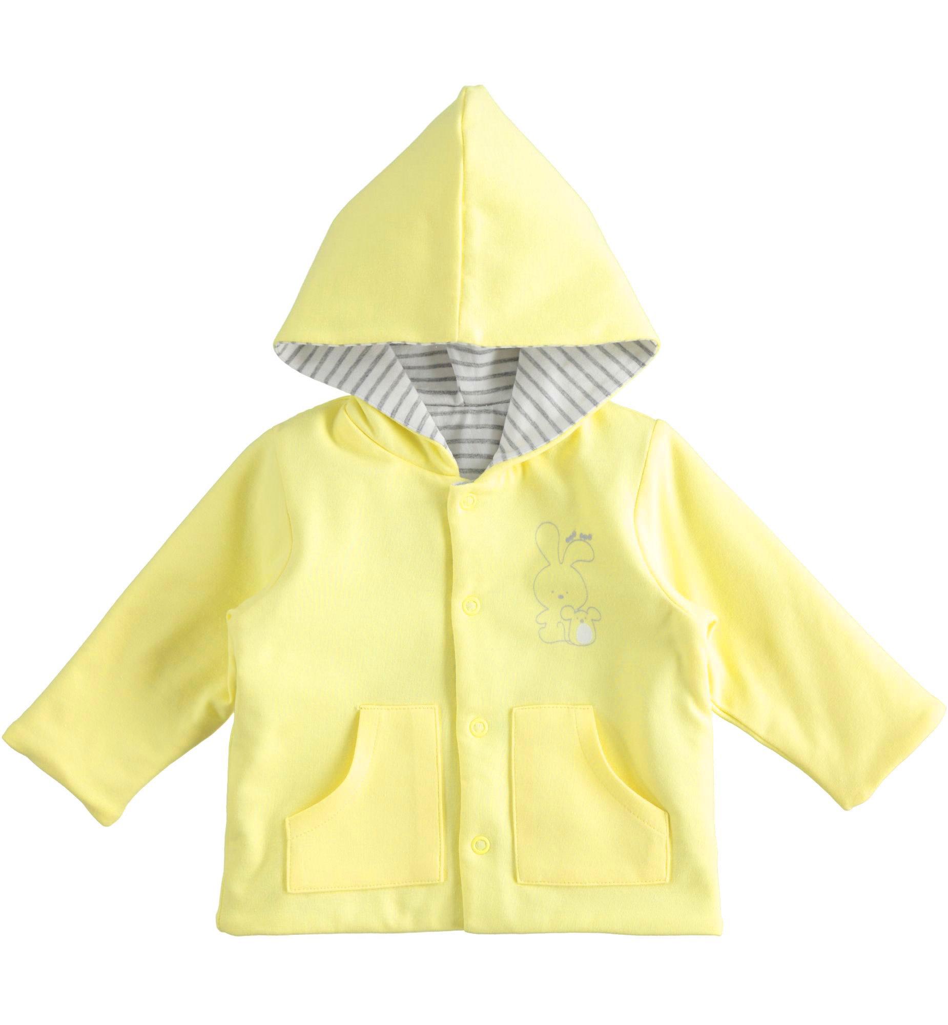 iDo IDo SS20 Boys Yellow and Grey Reversible Bunny Jacket J047