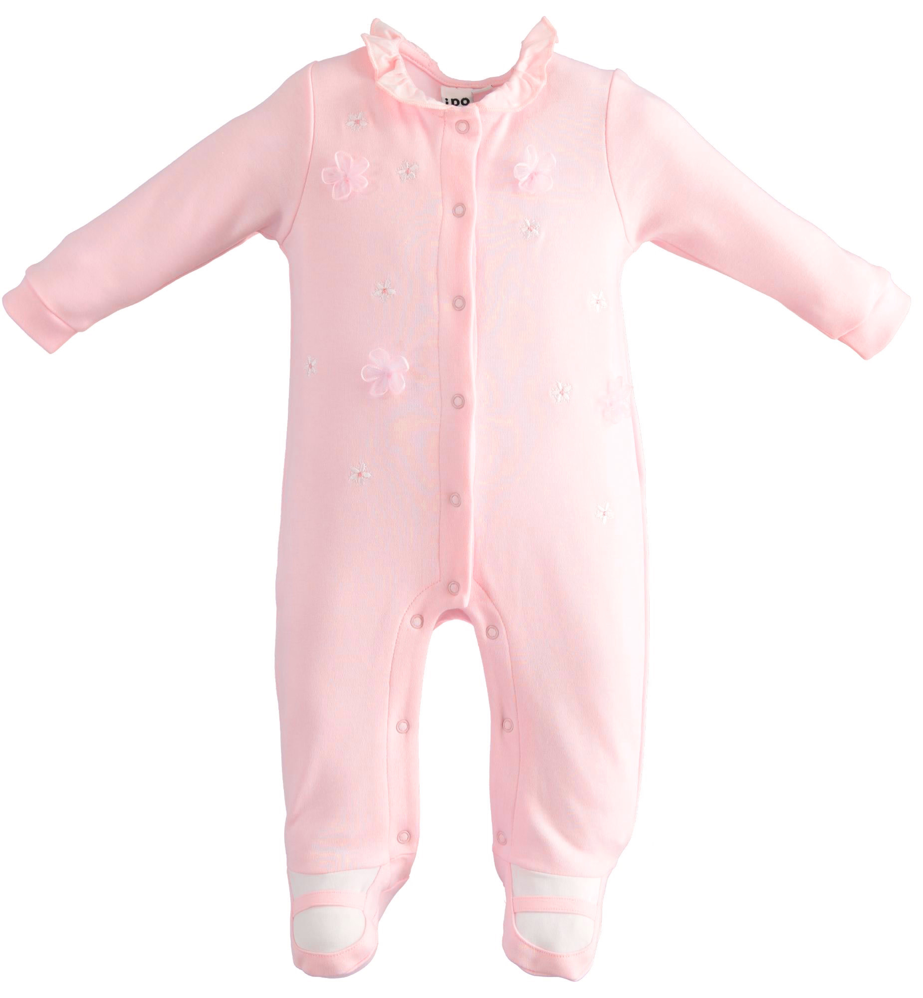 iDo iDO SS20 Baby Girl Pink Babygrow with 3D Flower Detail J110
