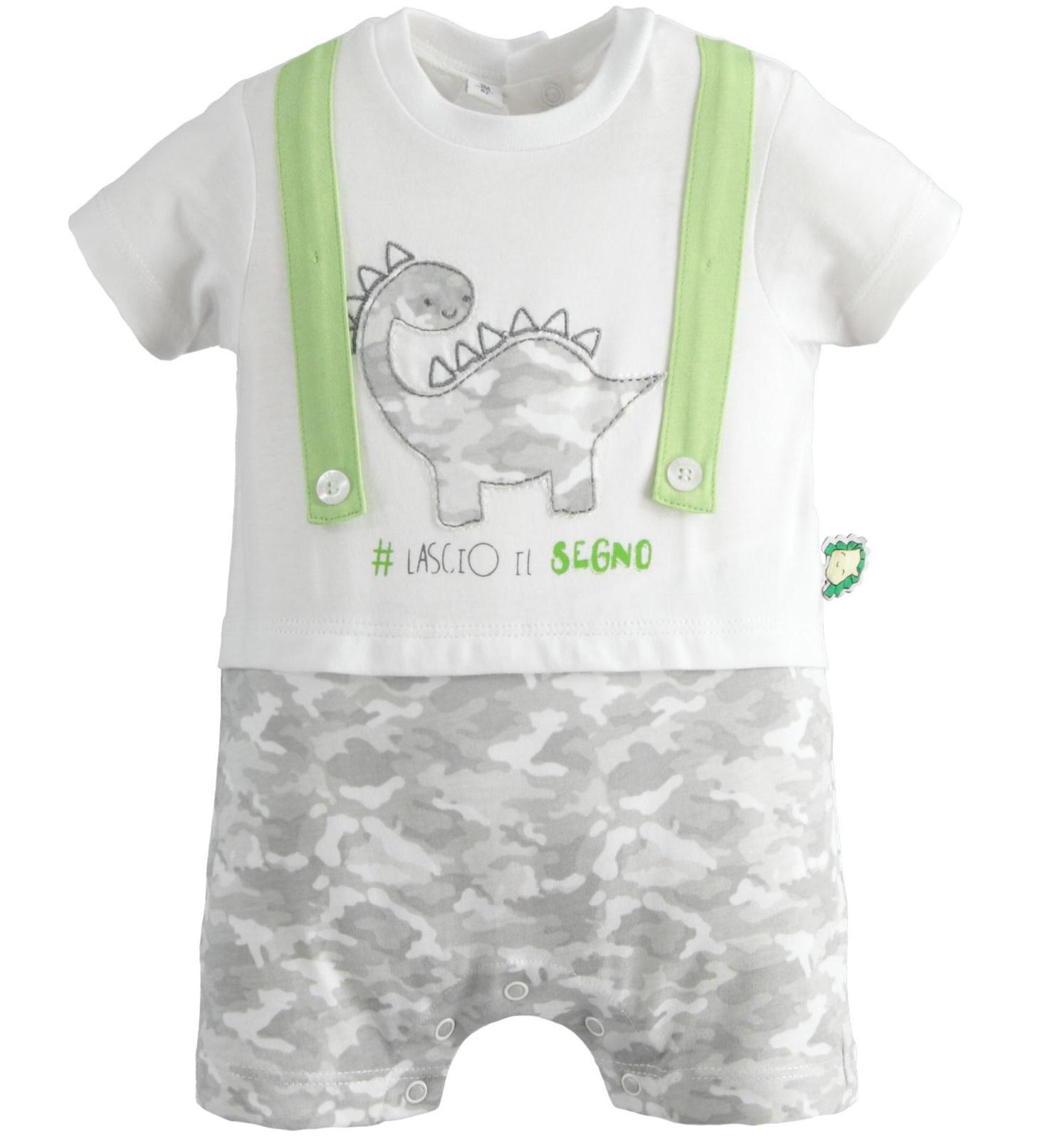 iDo iDO SS20 Baby Boy All in one dinosaur romper J086