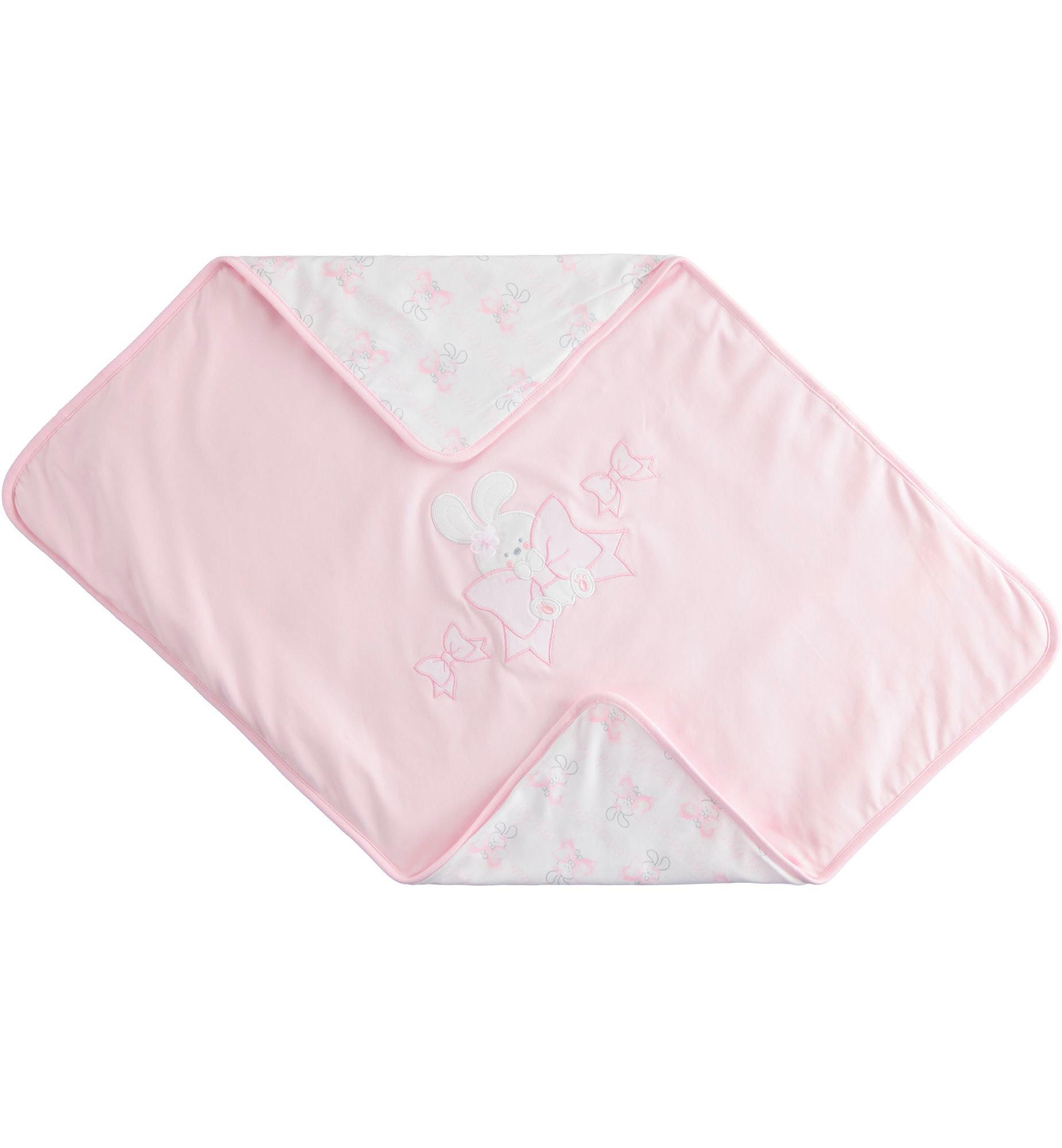 iDo iDO ss20 Baby girl pink bunny blanket J934