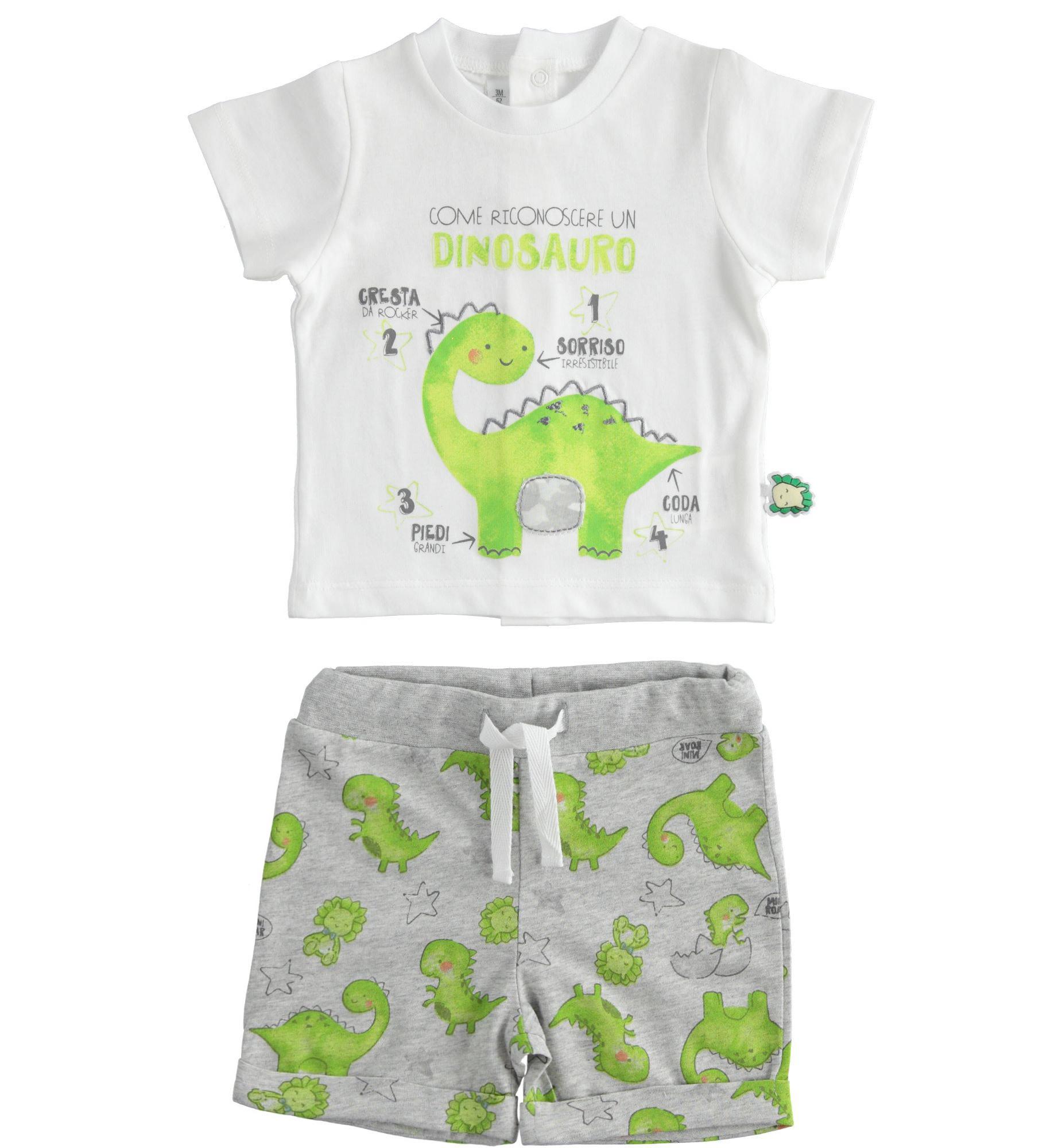 iDo Ido SS20 Boys Dinosaur 2 Piece shorts set J093