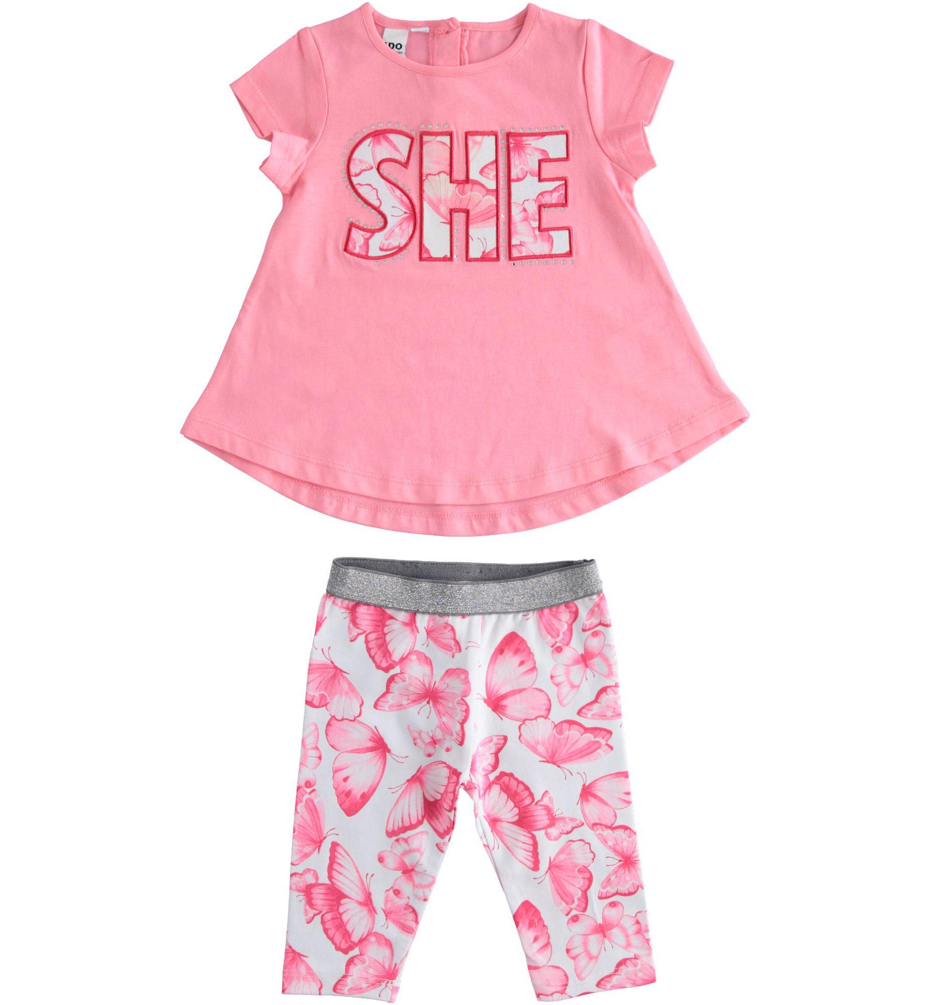 iDo iDO SS20 Girls SHE Pink Leggings Set J784
