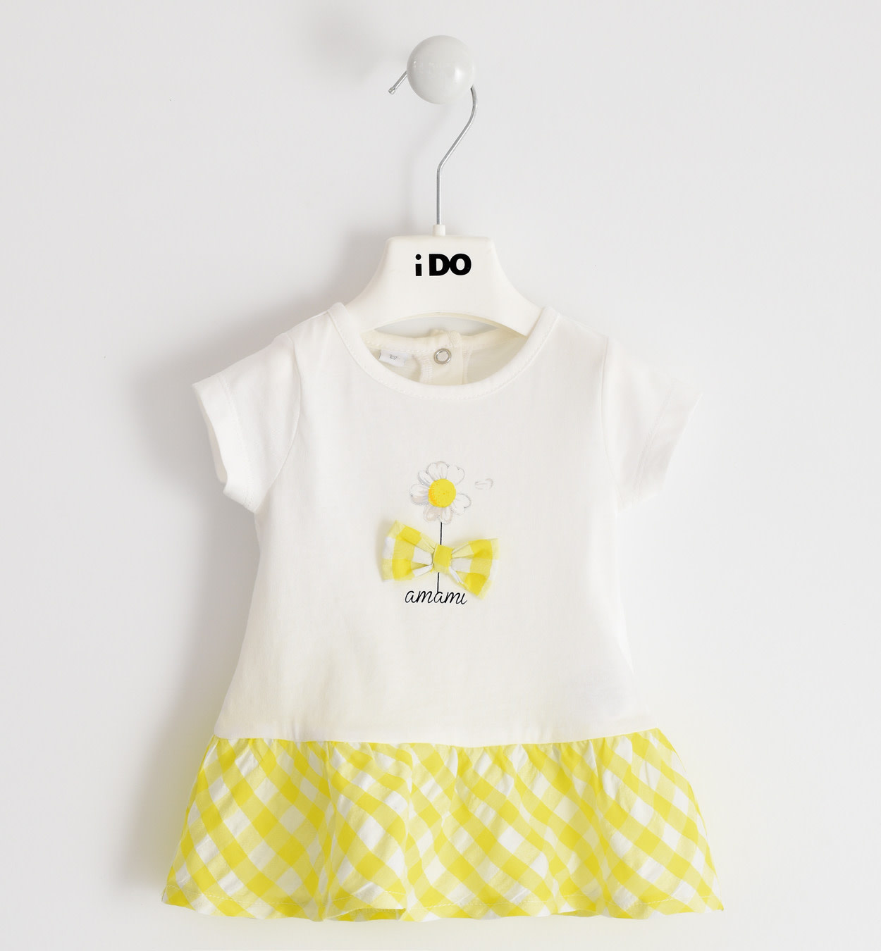 iDo iDO SS20 Girls Yellow Gingham Daisy Dress J643