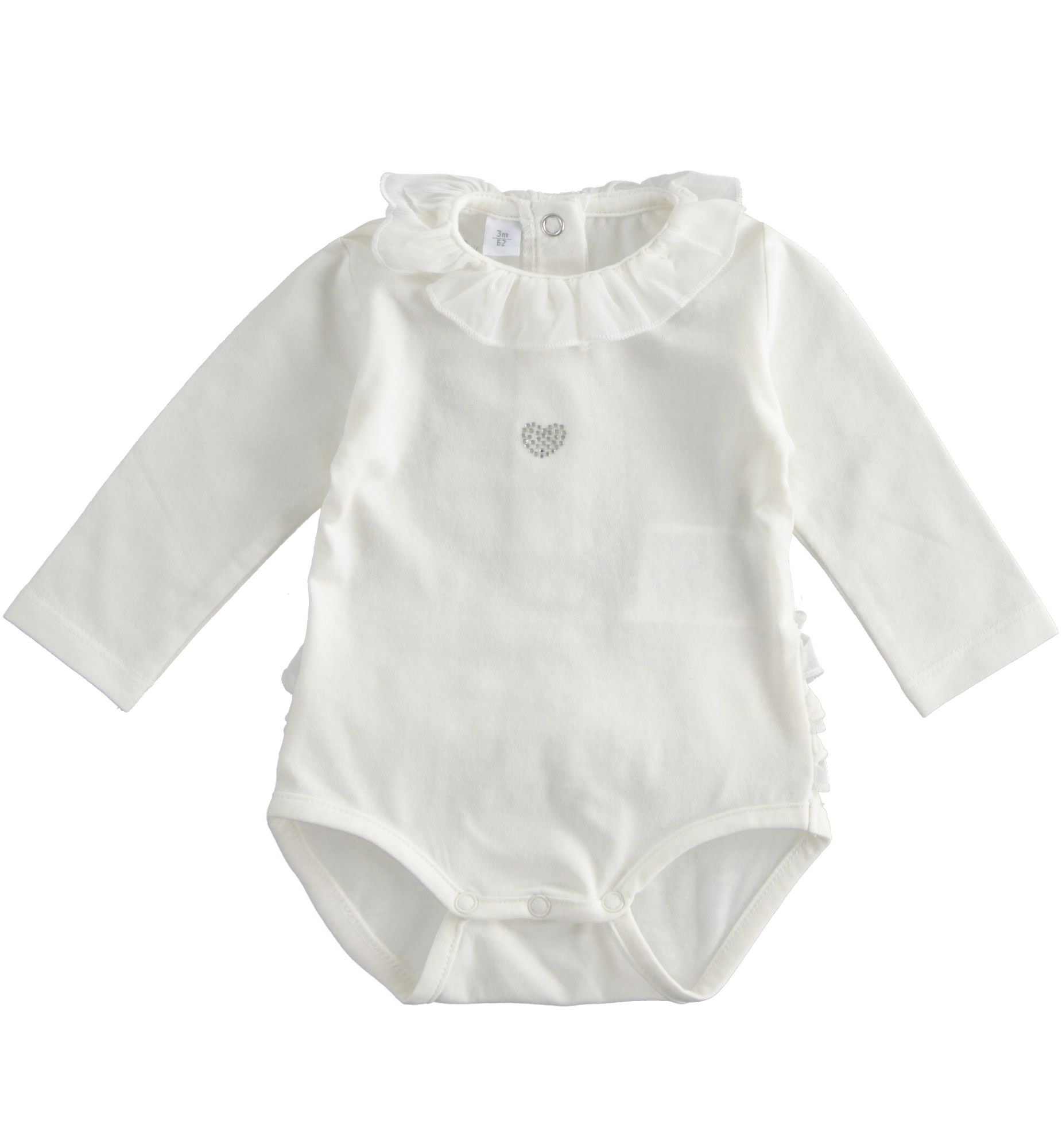 iDo iDO SS20 Girls Off White frilly bum vest with heart detail J150