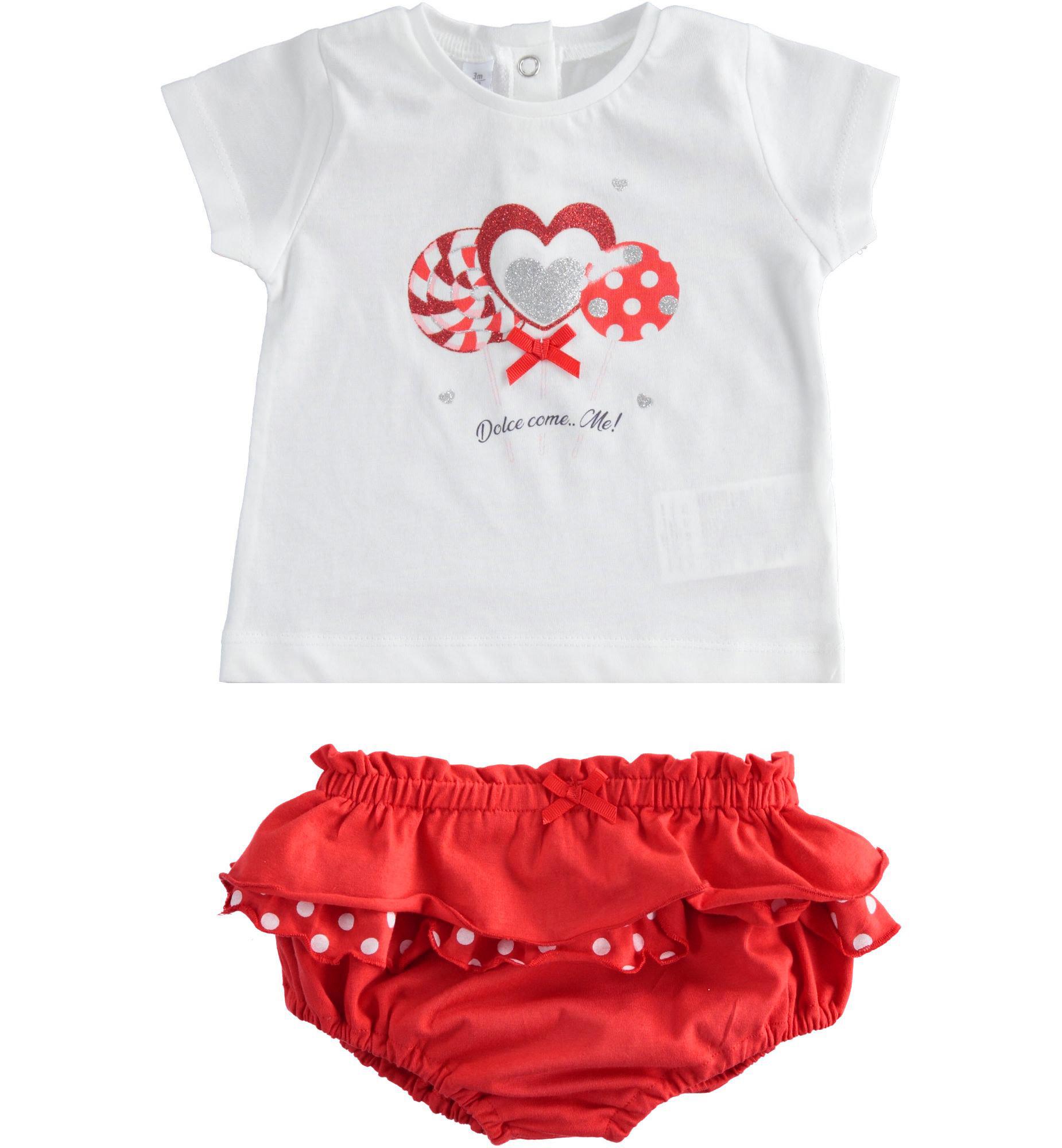 iDo iDO SS20 Girls Red Lollypop Jam Pants Set J655