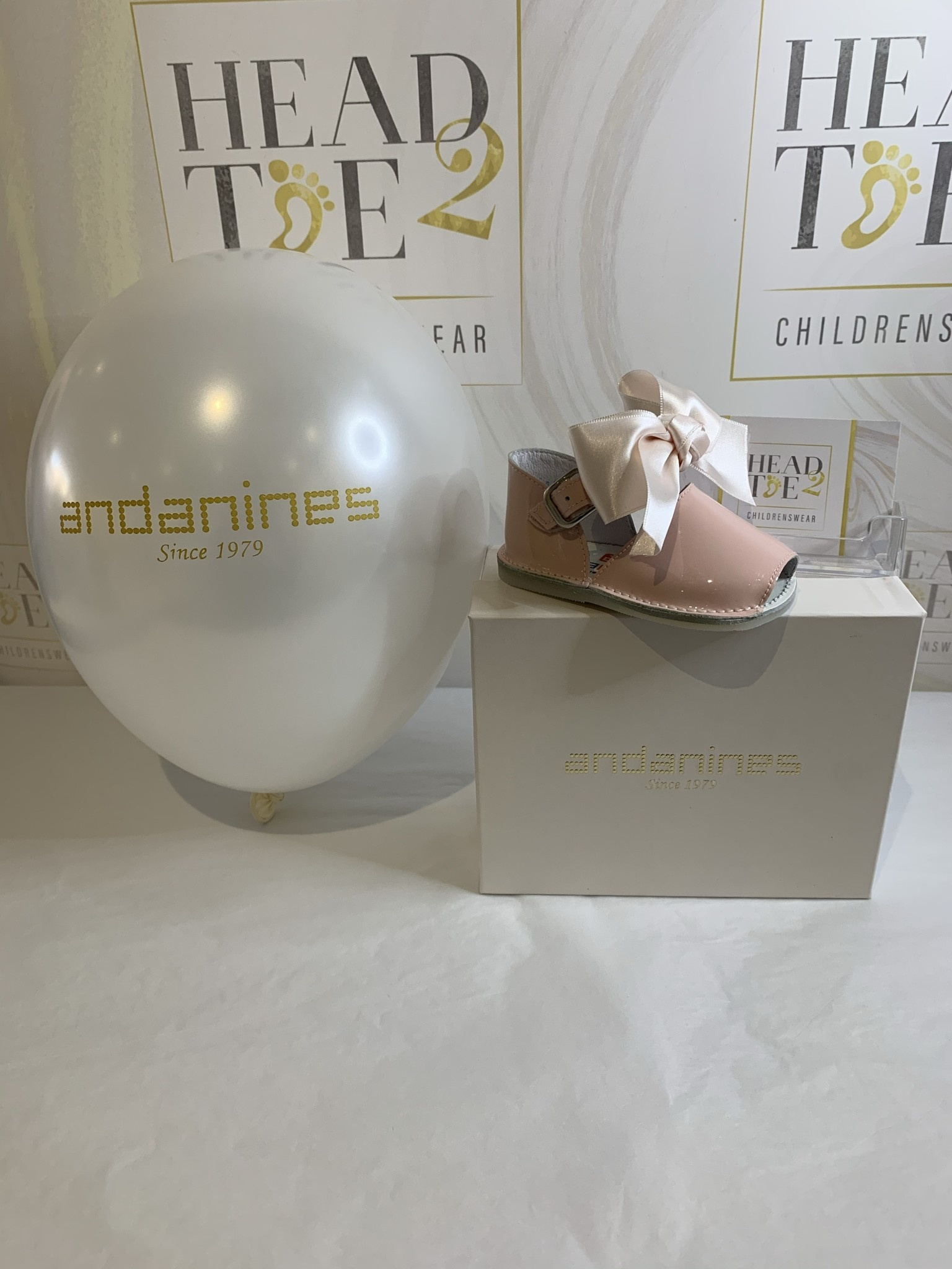 Andanines andanines BABY GIRLS PINK PATENT BOW SHOES 201803
