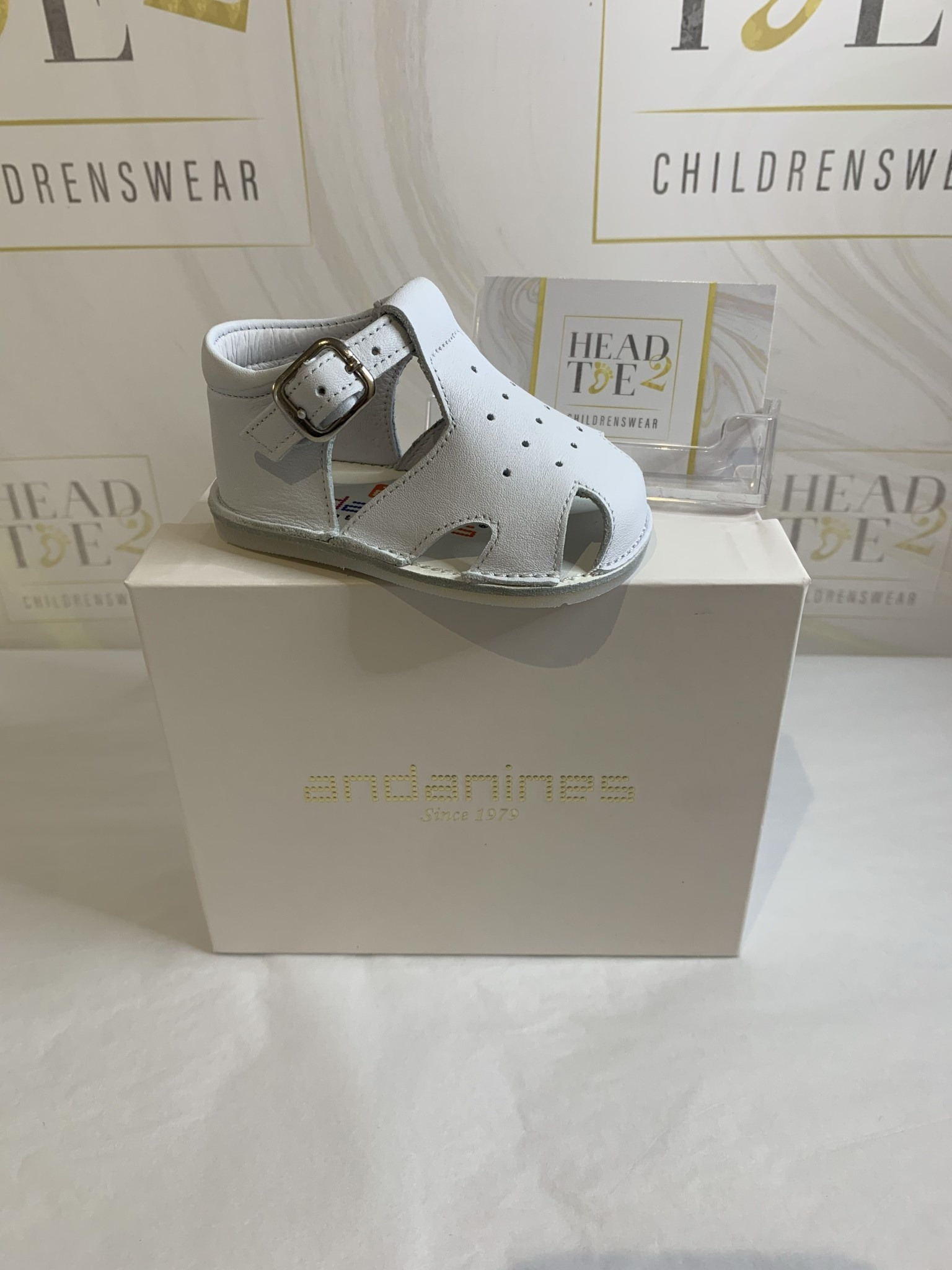 Andanines Andanines White Baby Sandals 201028