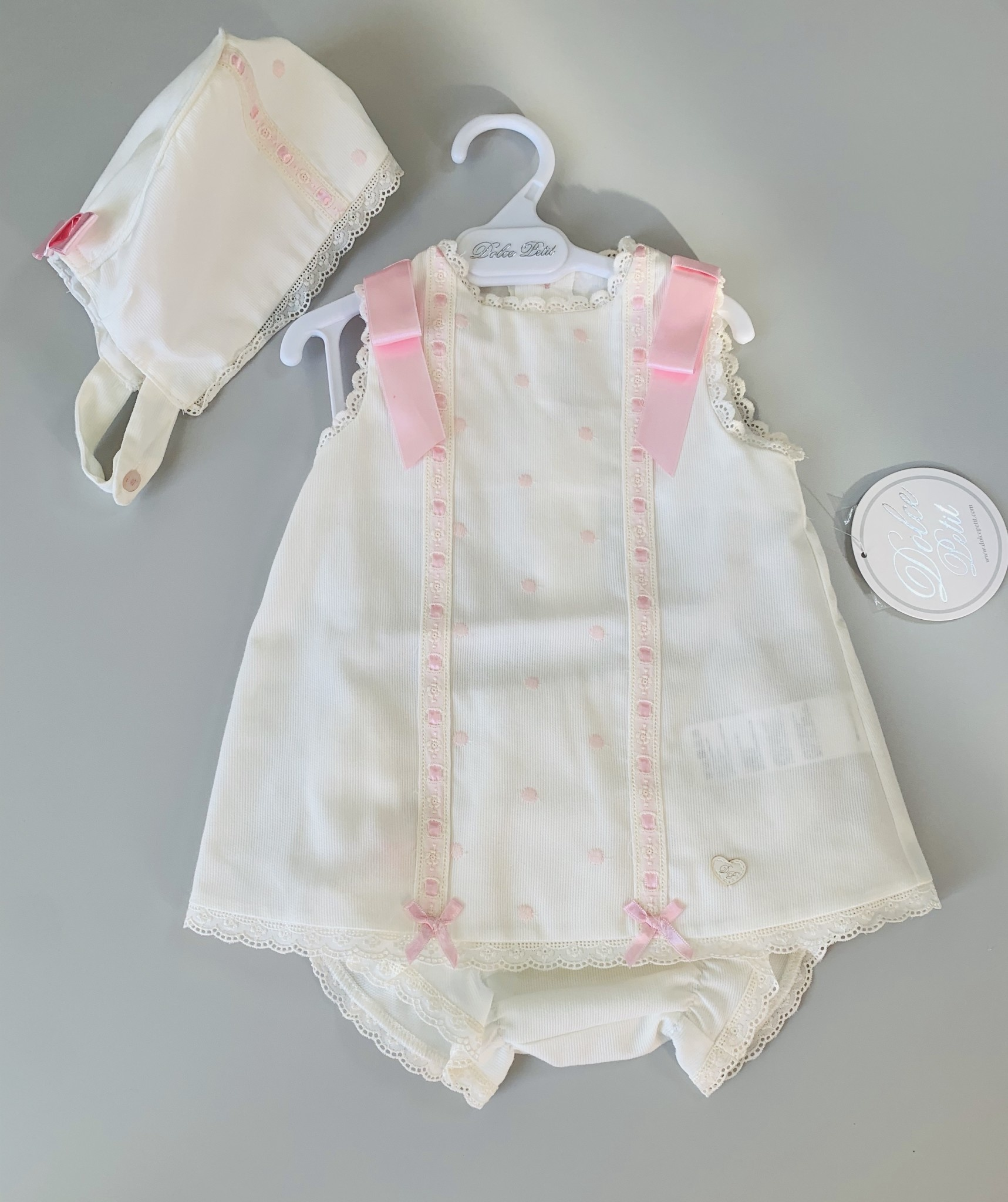 Dolce Petit DOLCE PETIT 3 PIECE DRESS SET PINK SPOT 2012/VBG