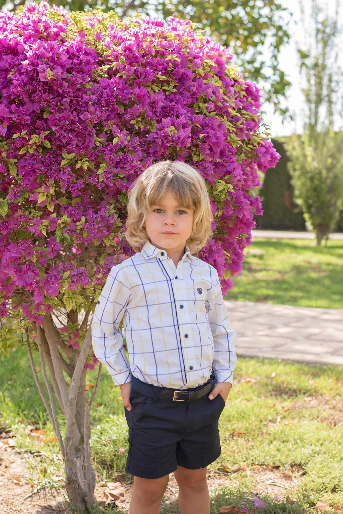 Dolce Petit Dolce Petit Boys Long Sleeve Shirt Set with Shorts and Belt 2222/2