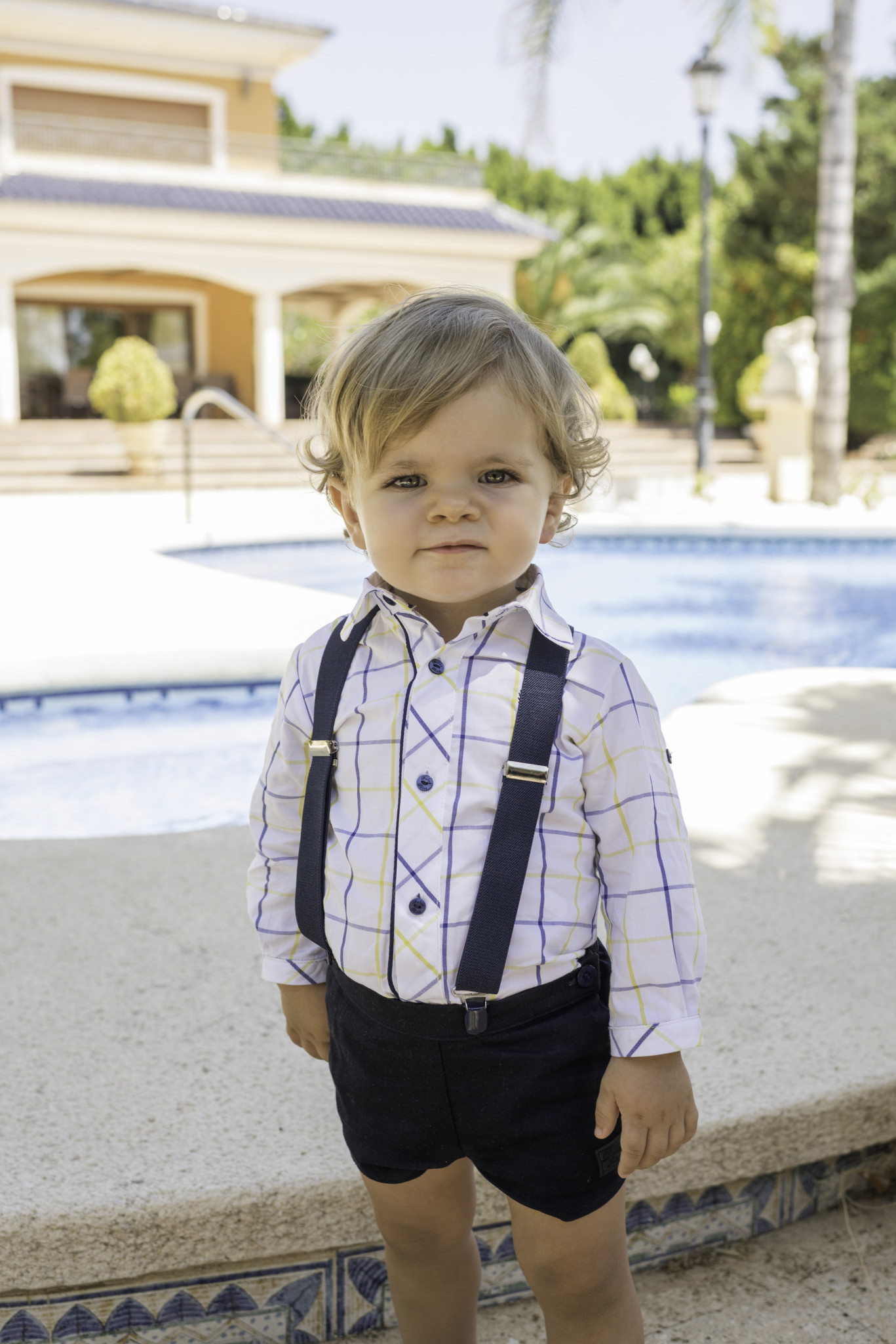 Dolce Petit Dolce Petit Boys Short Sleeve Shirt set with braces 2122/23C