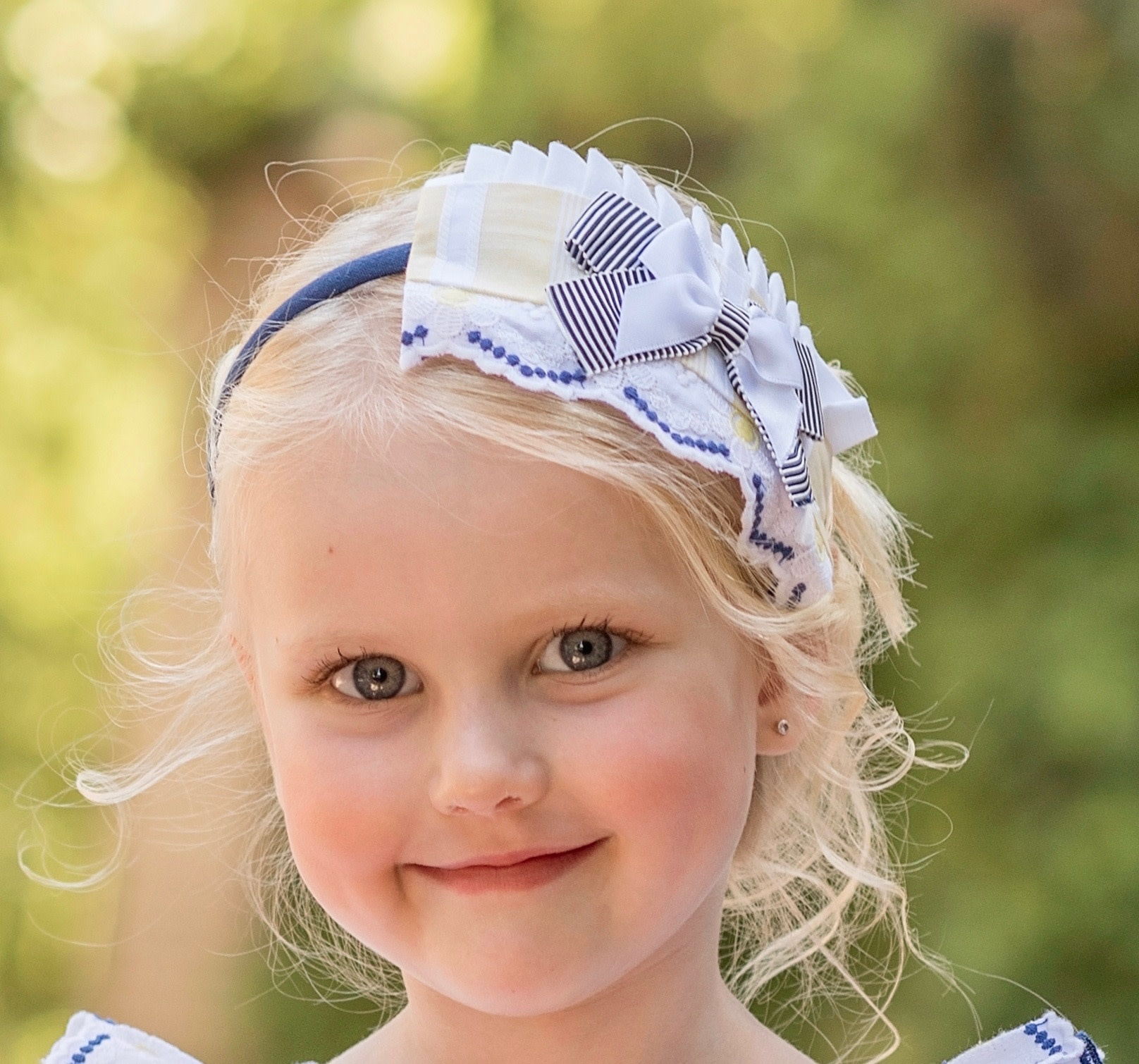 Dolce Petit Dolce Petit Hairband Yellow and Navy 2222/D