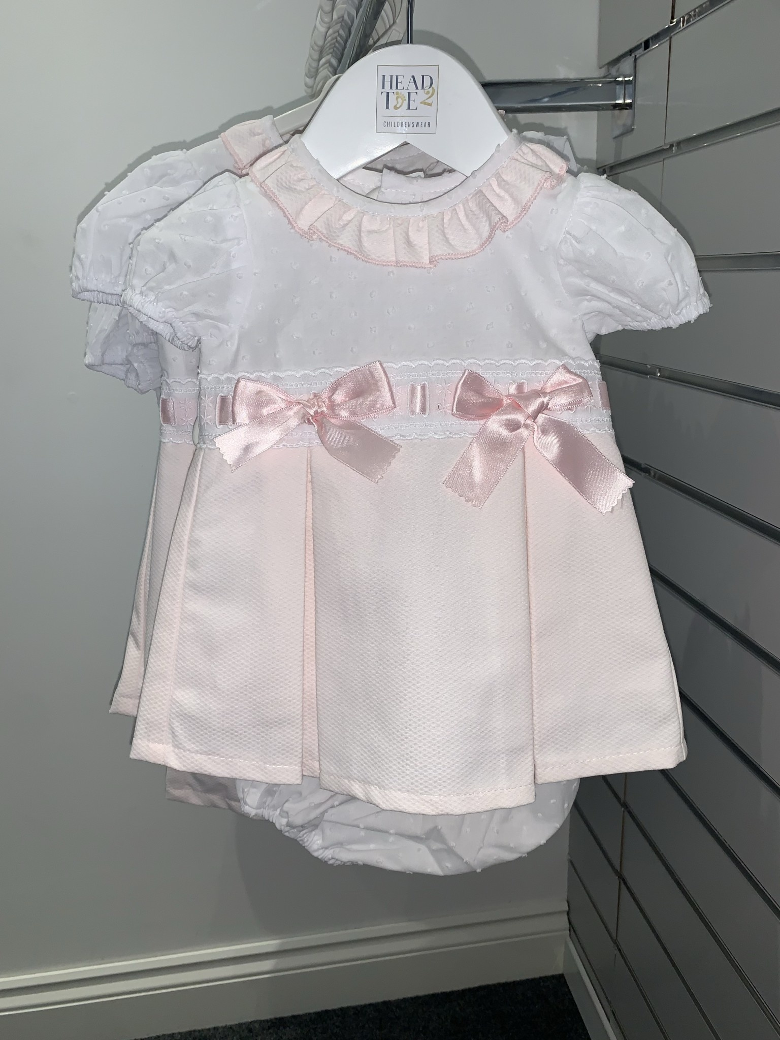 Wee Me Wee Me Girls Spanish Pink Dress with Pants A102