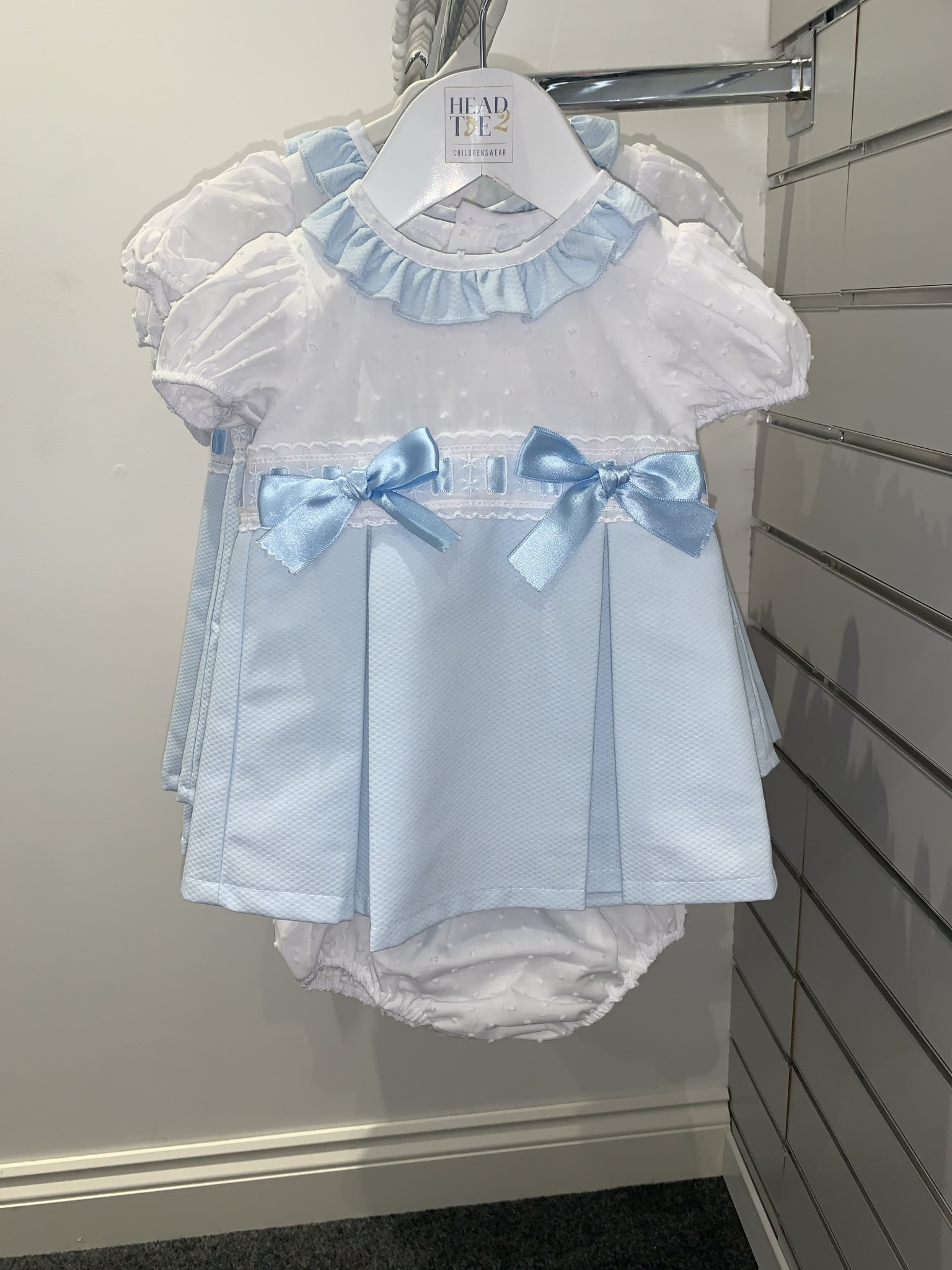 Wee Me Wee Me Girls Spanish Blue Dress with Pants A102