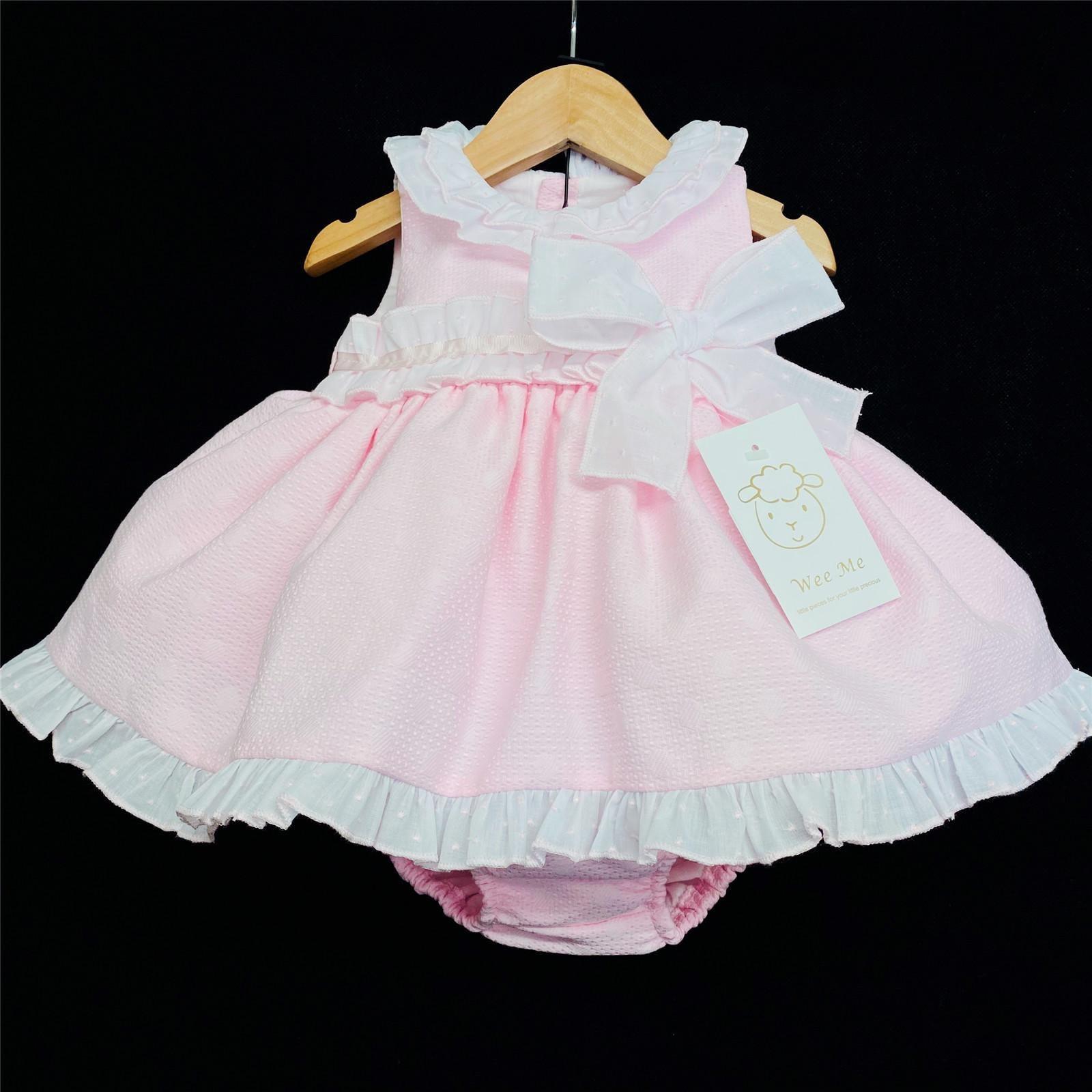Wee Me Girls Pink Bow Dress MYD46