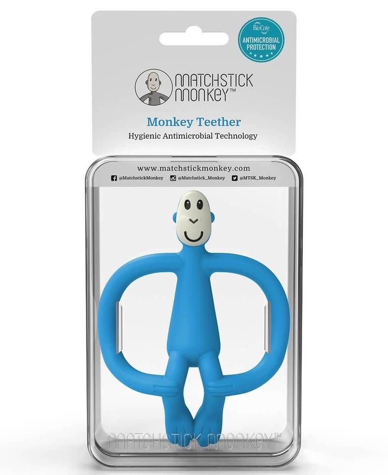 Matchstick Monkey BLUE MONKEY TEETHER