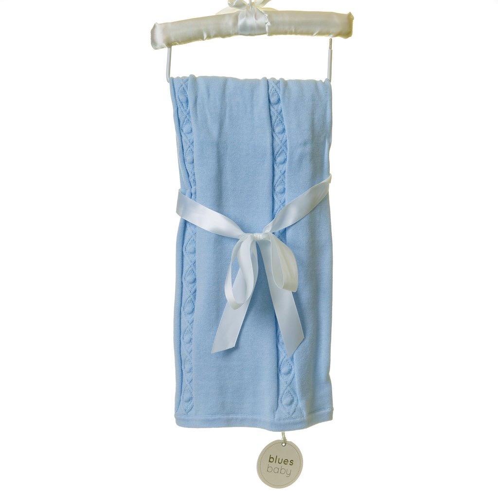 Blues Baby BLUESBABY BLUE CABLE KNIT BLANKET TT0096