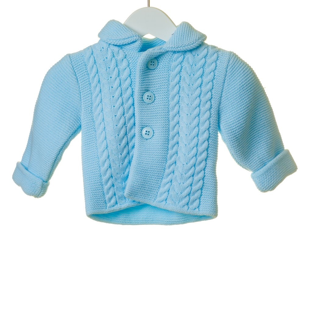 Blues Baby BLUESBABY BOYS DOUBLE KNIT CABLE JACKET AND HAT SET TT0267