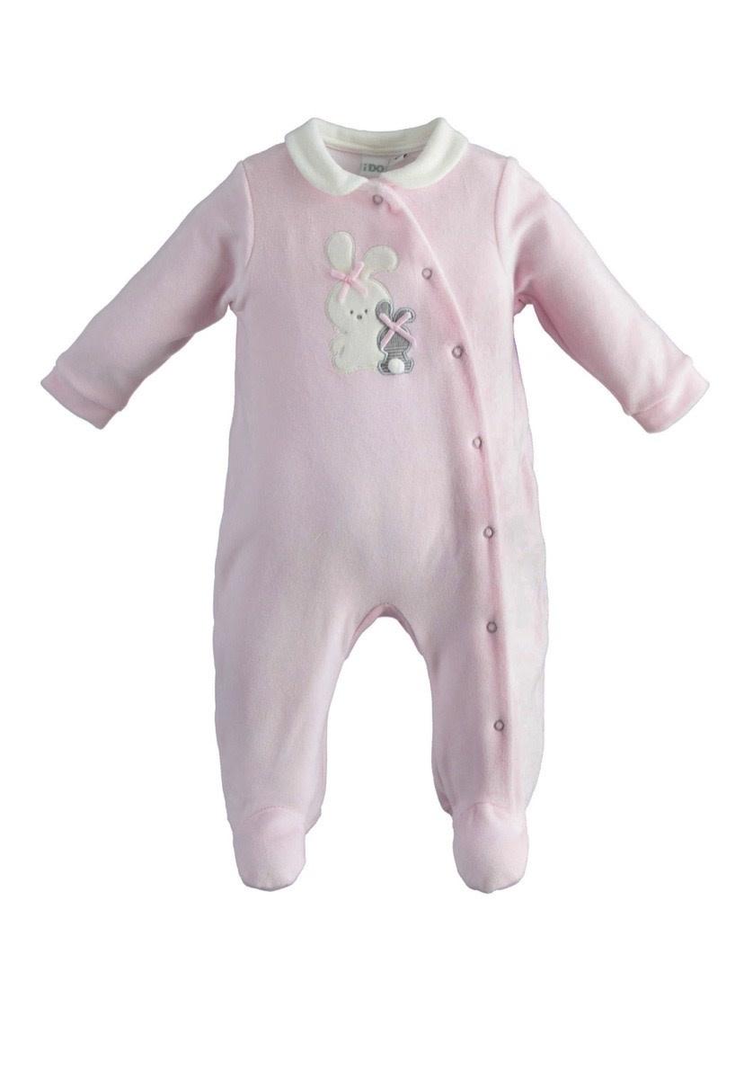 iDo iDO Girls Pink Bunny Romper 1278