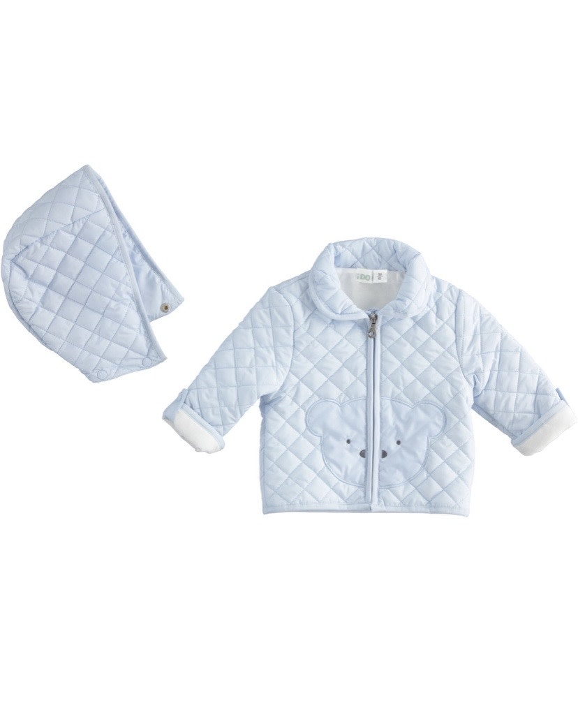 iDo iDo Blue Baby boy quilted jacket 1292
